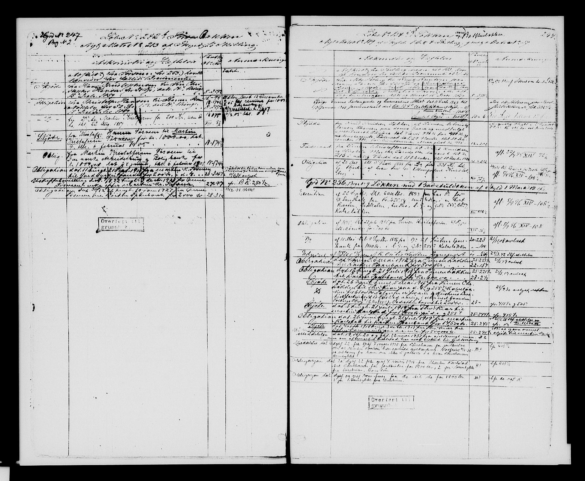 SAH, Sør-Hedmark sorenskriveri, H/Ha/Hac/Hacc/L0001: Panteregister nr. 3.1, 1855-1943, s. 294