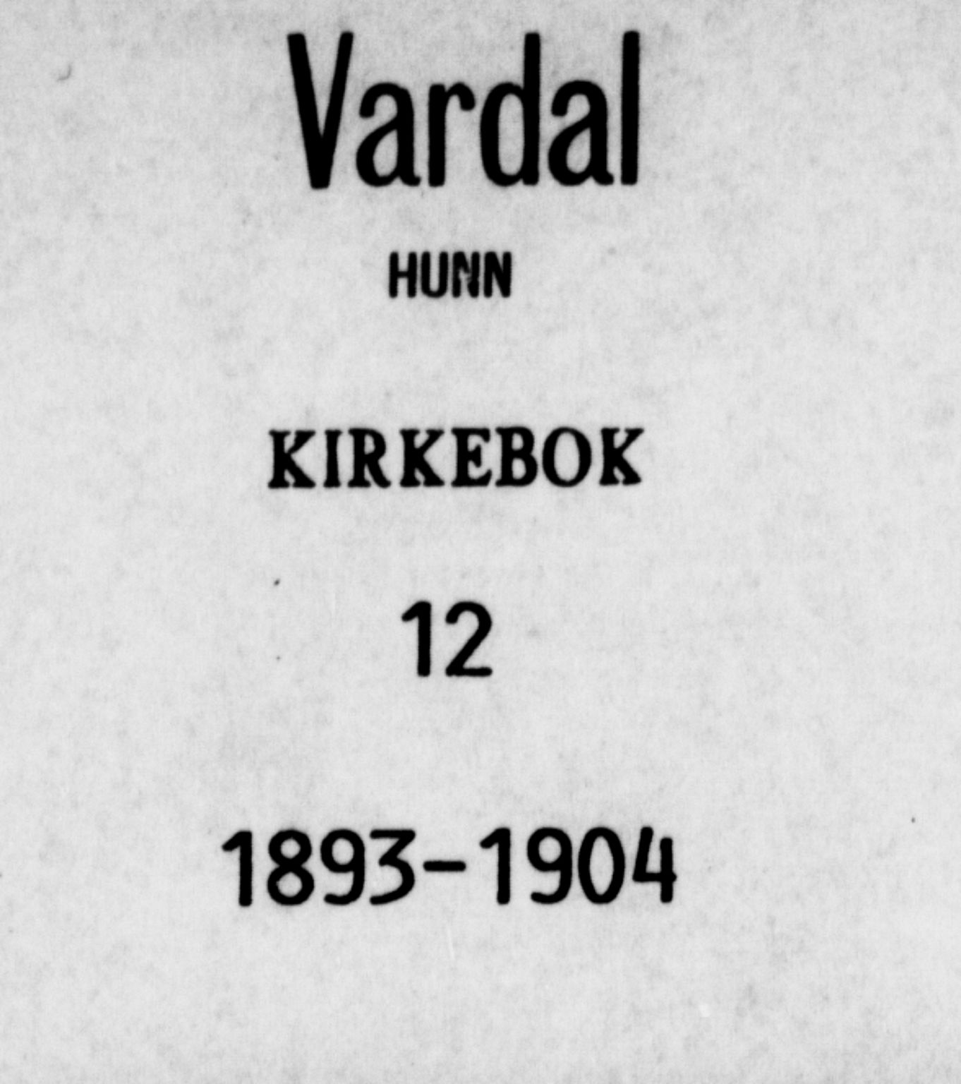 SAH, Vardal prestekontor, H/Ha/Haa/L0012: Ministerialbok nr. 12, 1893-1904