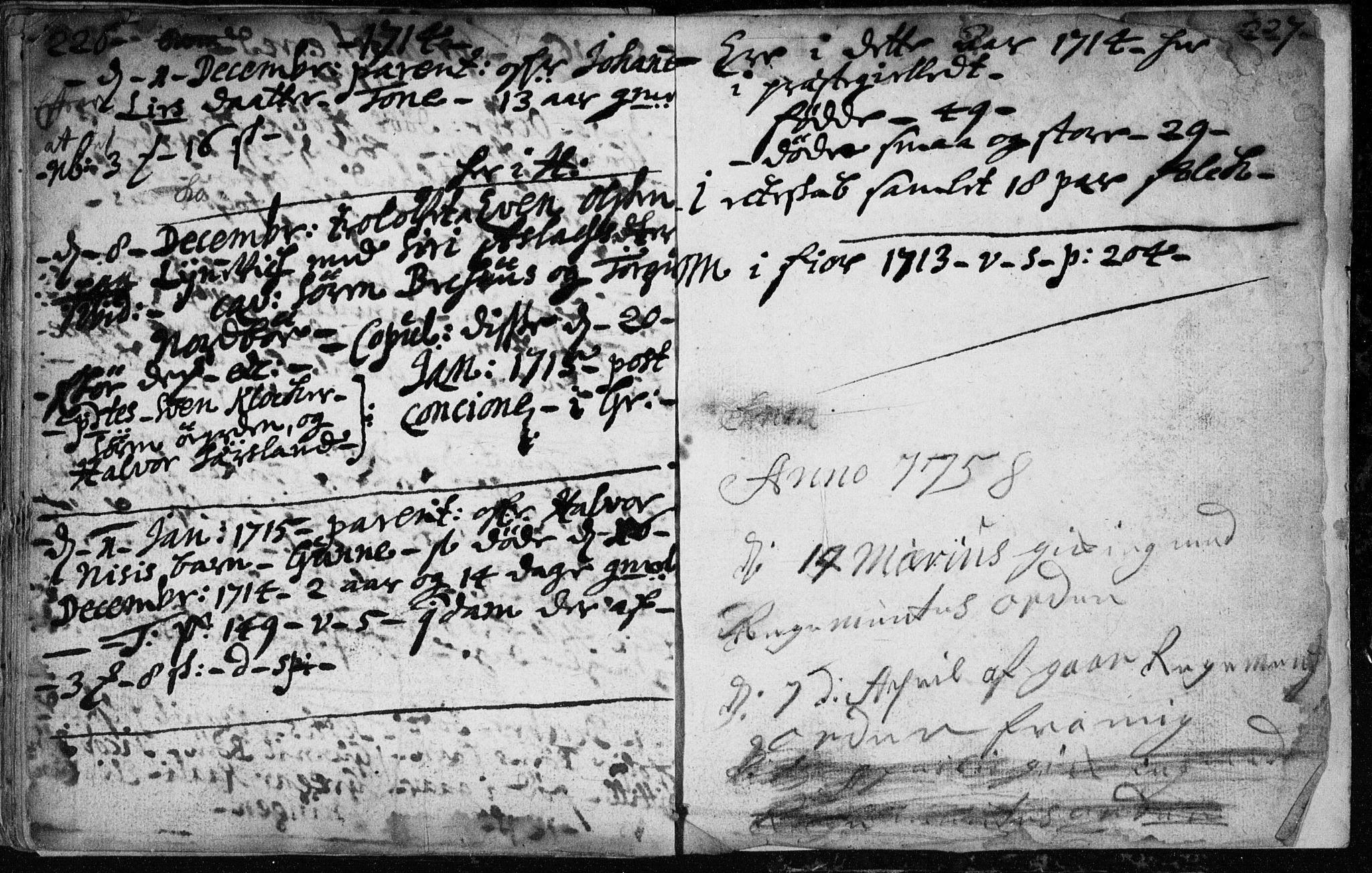 SAKO, Hjartdal kirkebøker, F/Fa/L0001: Ministerialbok nr. I 1, 1685-1714, s. 226-227