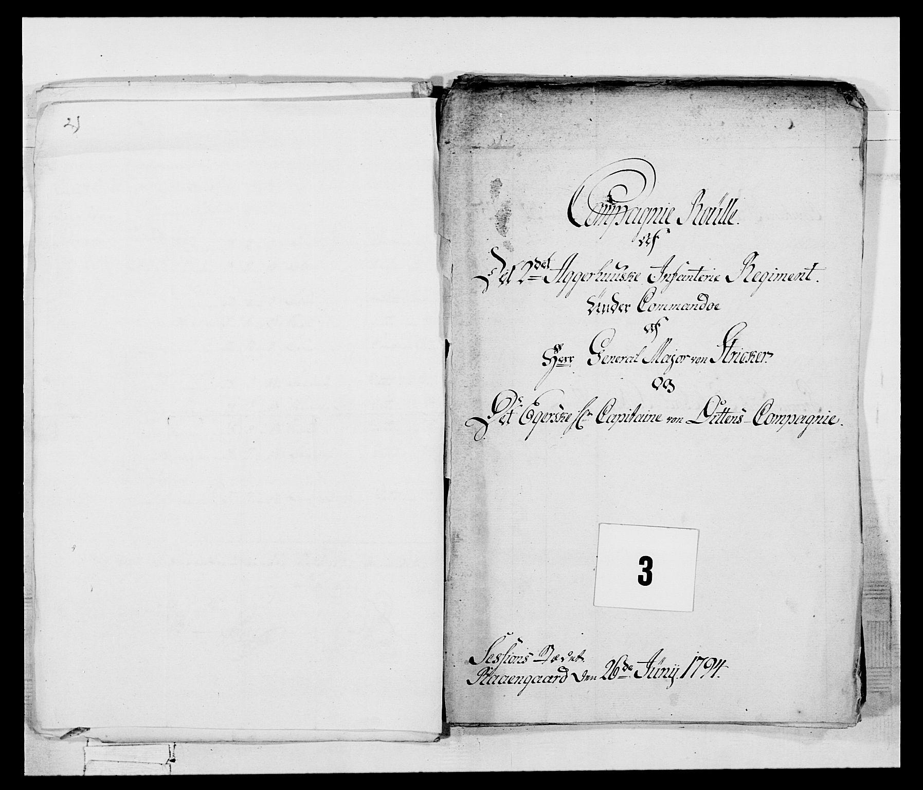 RA, Generalitets- og kommissariatskollegiet, Det kongelige norske kommissariatskollegium, E/Eh/L0047: 2. Akershusiske nasjonale infanteriregiment, 1791-1810, s. 13