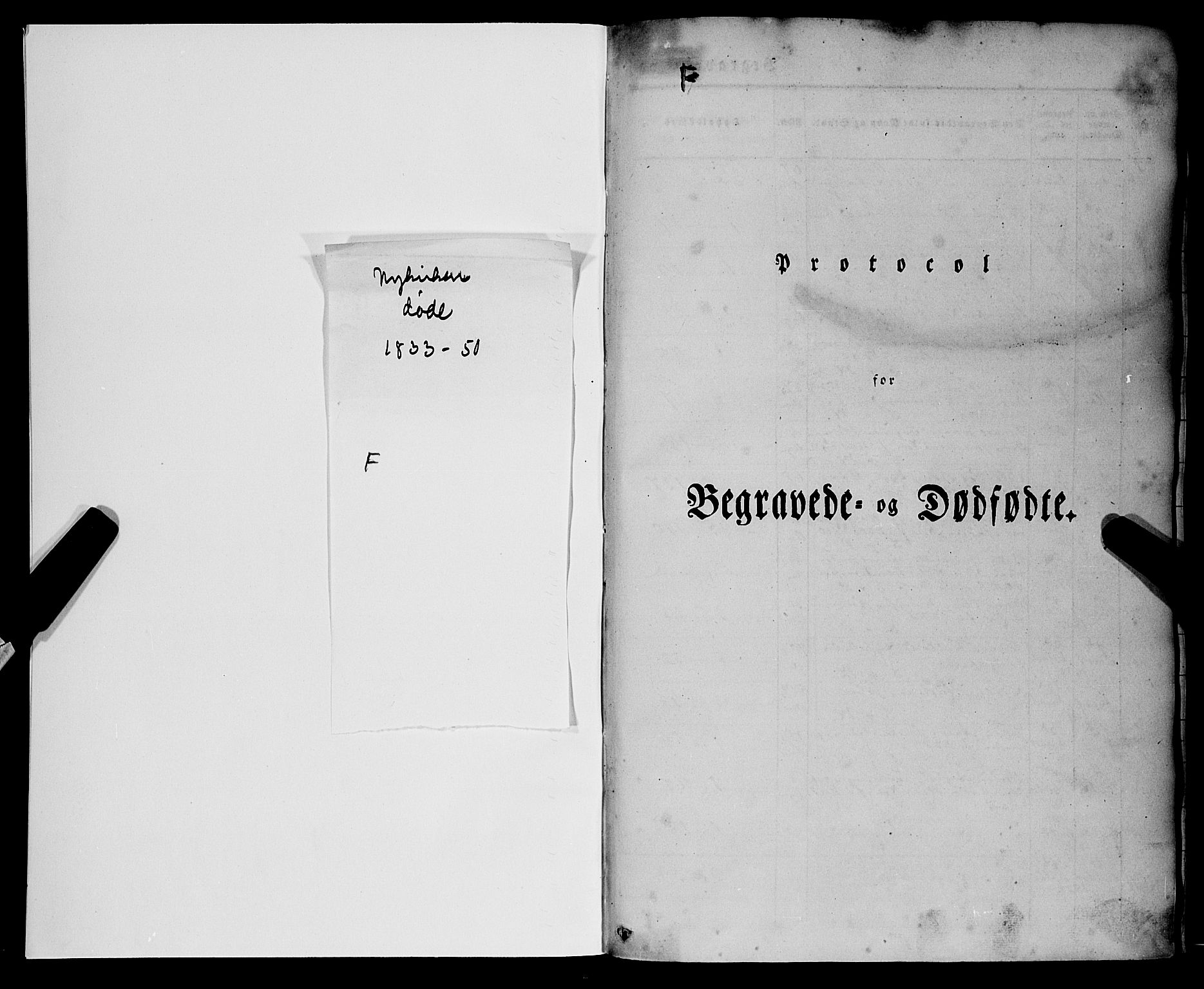 SAB, Nykirken Sokneprestembete, H/Haa: Ministerialbok nr. E 1, 1833-1850