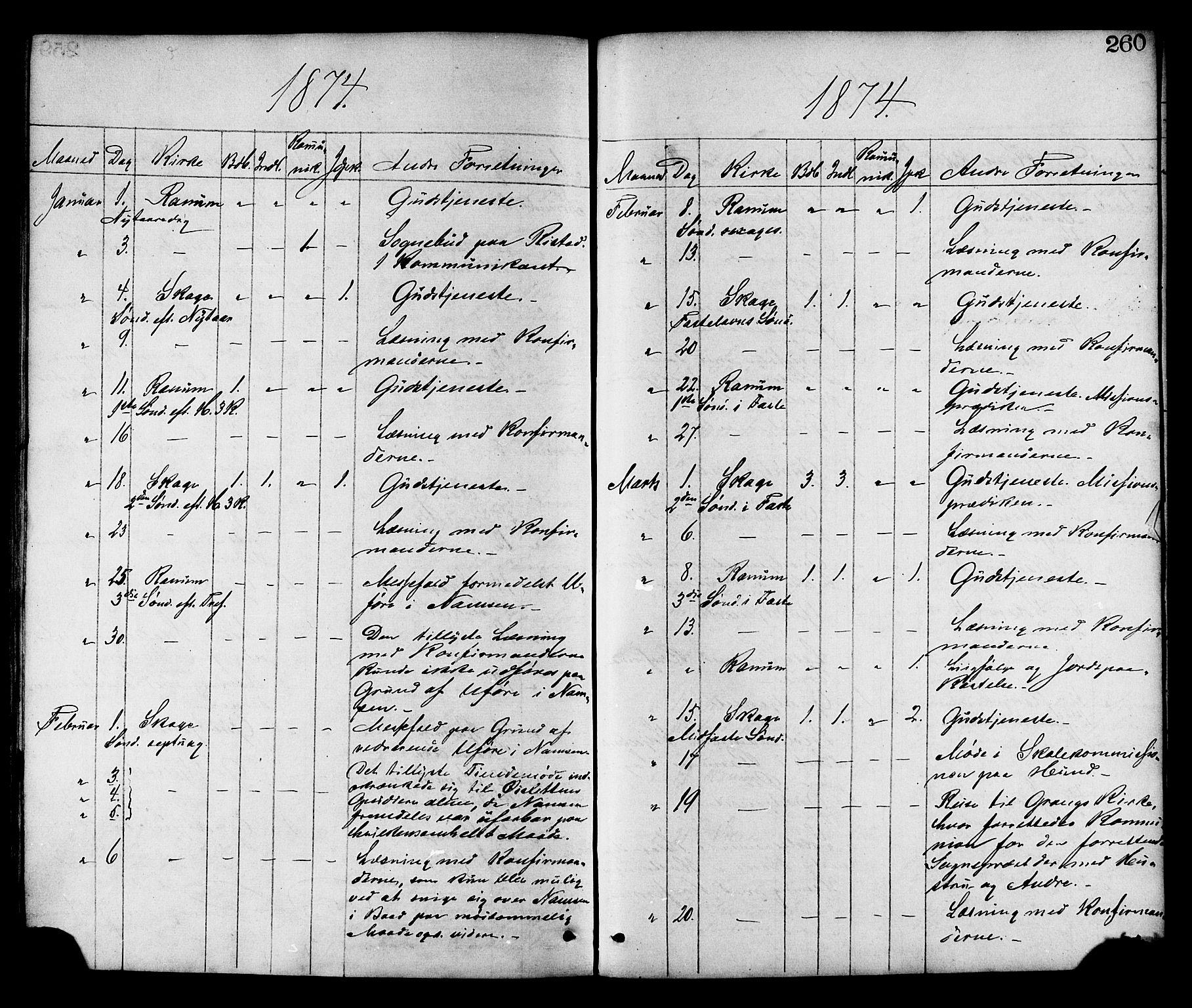 SAT, Ministerialprotokoller, klokkerbøker og fødselsregistre - Nord-Trøndelag, 764/L0554: Ministerialbok nr. 764A09, 1867-1880, s. 260