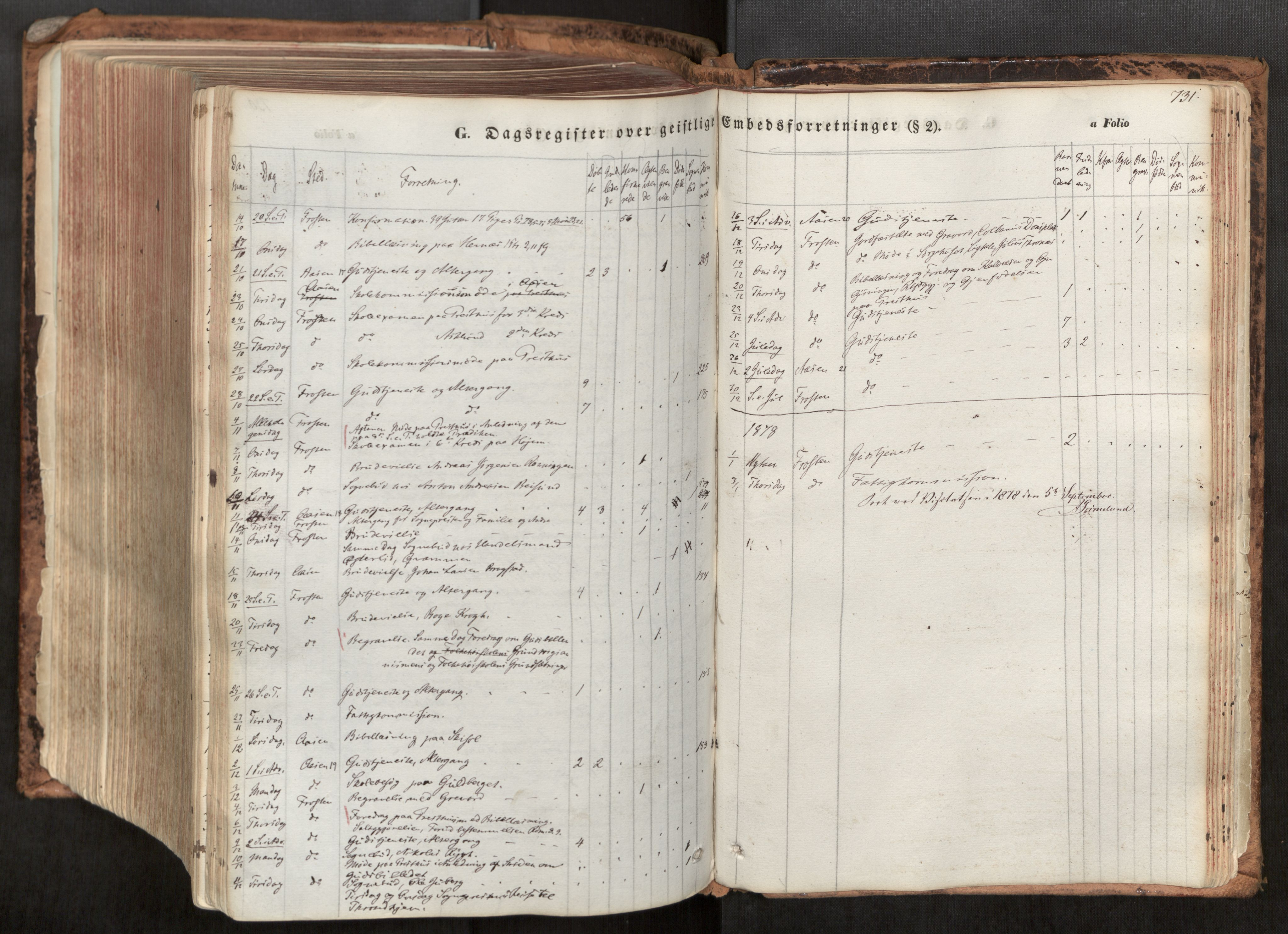 SAT, Ministerialprotokoller, klokkerbøker og fødselsregistre - Nord-Trøndelag, 713/L0116: Ministerialbok nr. 713A07, 1850-1877, s. 731