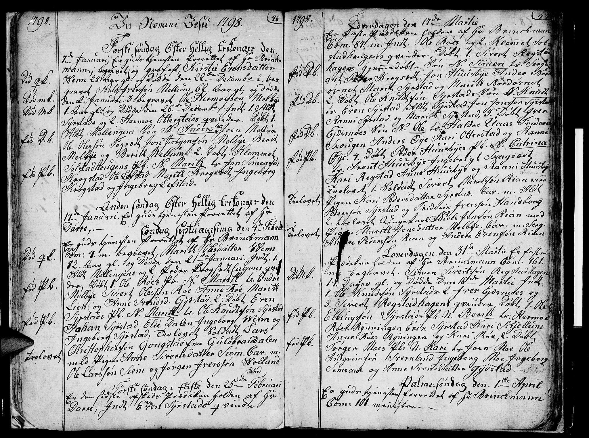 SAT, Ministerialprotokoller, klokkerbøker og fødselsregistre - Sør-Trøndelag, 667/L0794: Ministerialbok nr. 667A02, 1791-1816, s. 46-47