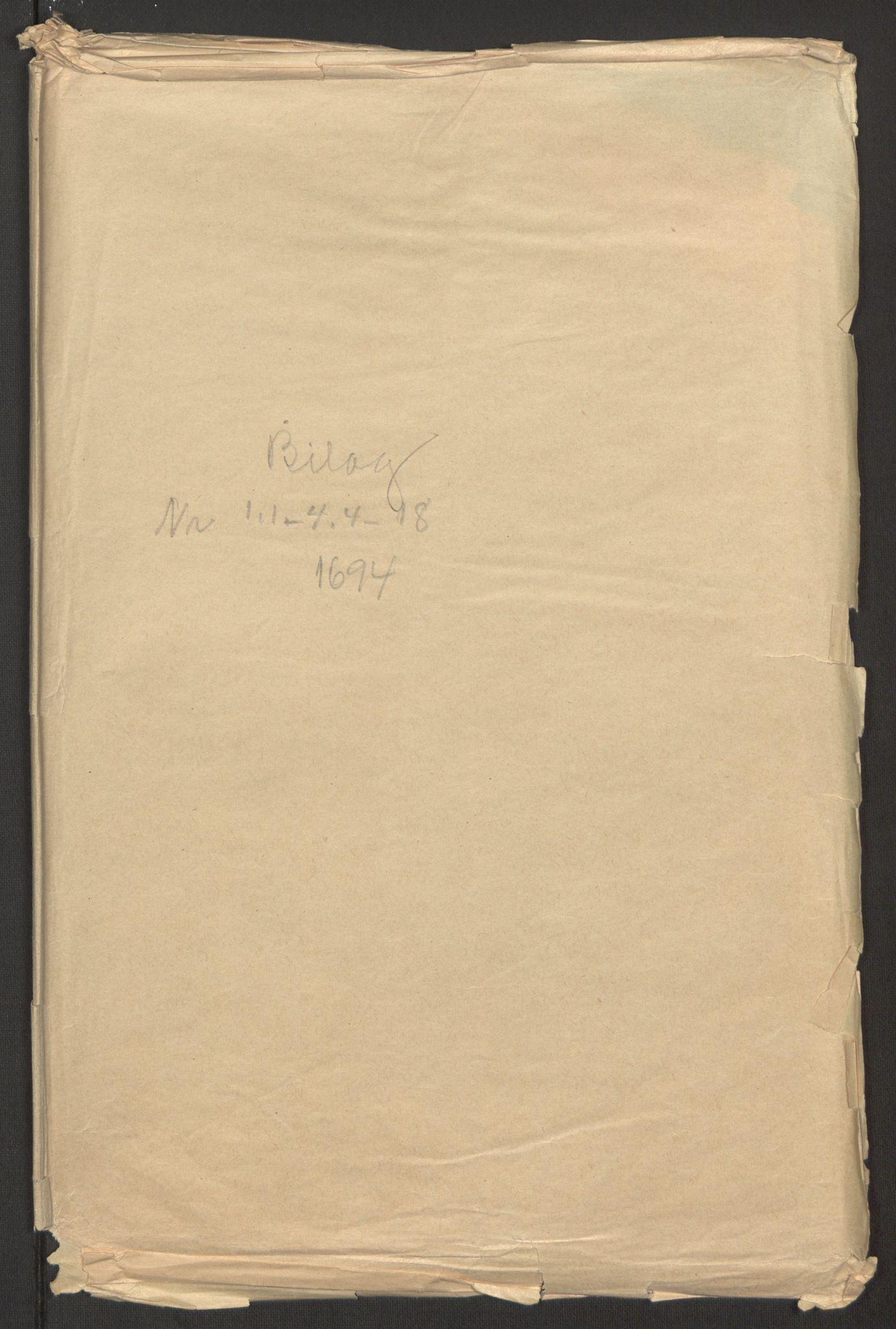 RA, Rentekammeret inntil 1814, Reviderte regnskaper, Fogderegnskap, R51/L3182: Fogderegnskap Nordhordland og Voss, 1694, s. 305