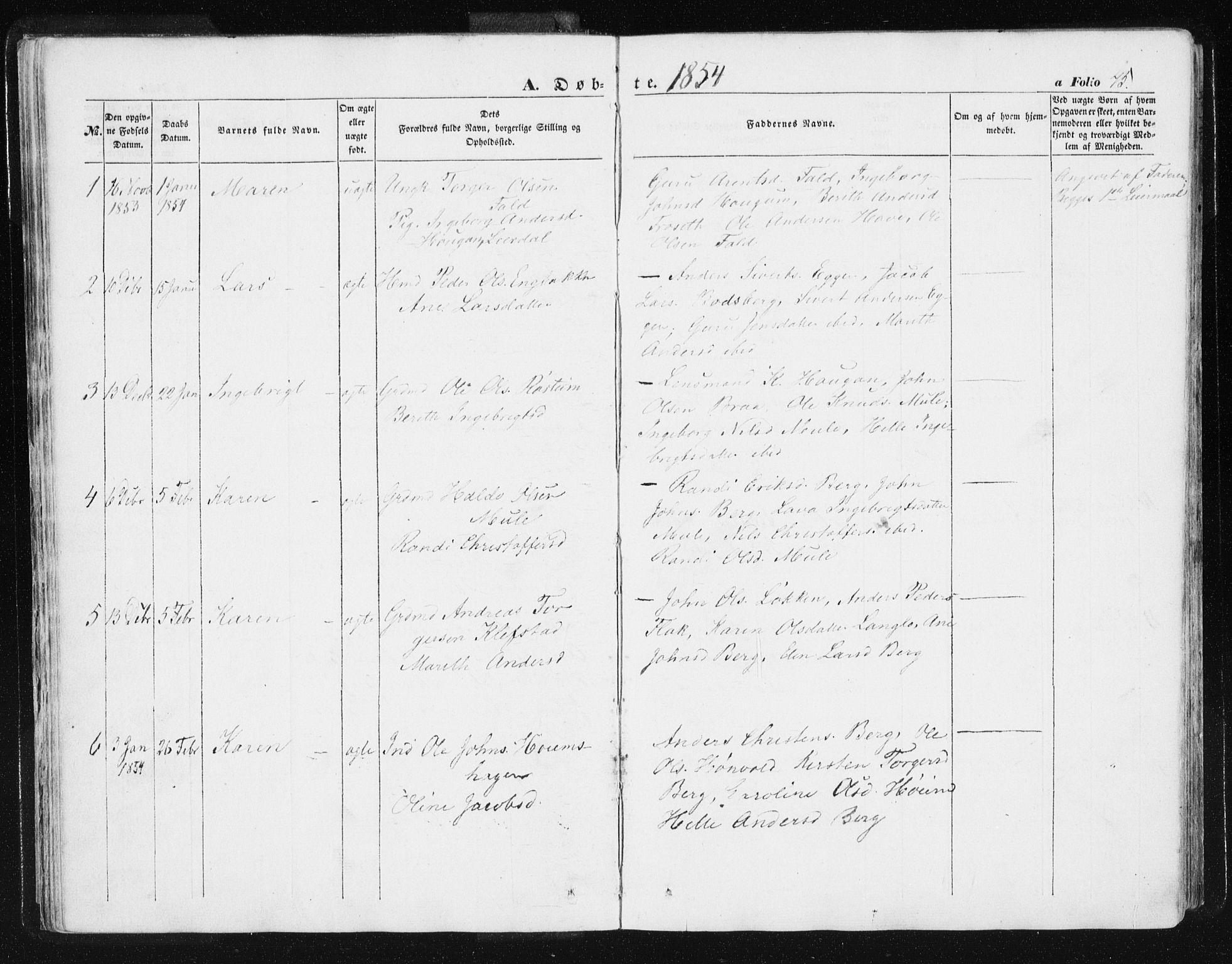 SAT, Ministerialprotokoller, klokkerbøker og fødselsregistre - Sør-Trøndelag, 612/L0376: Ministerialbok nr. 612A08, 1846-1859, s. 45