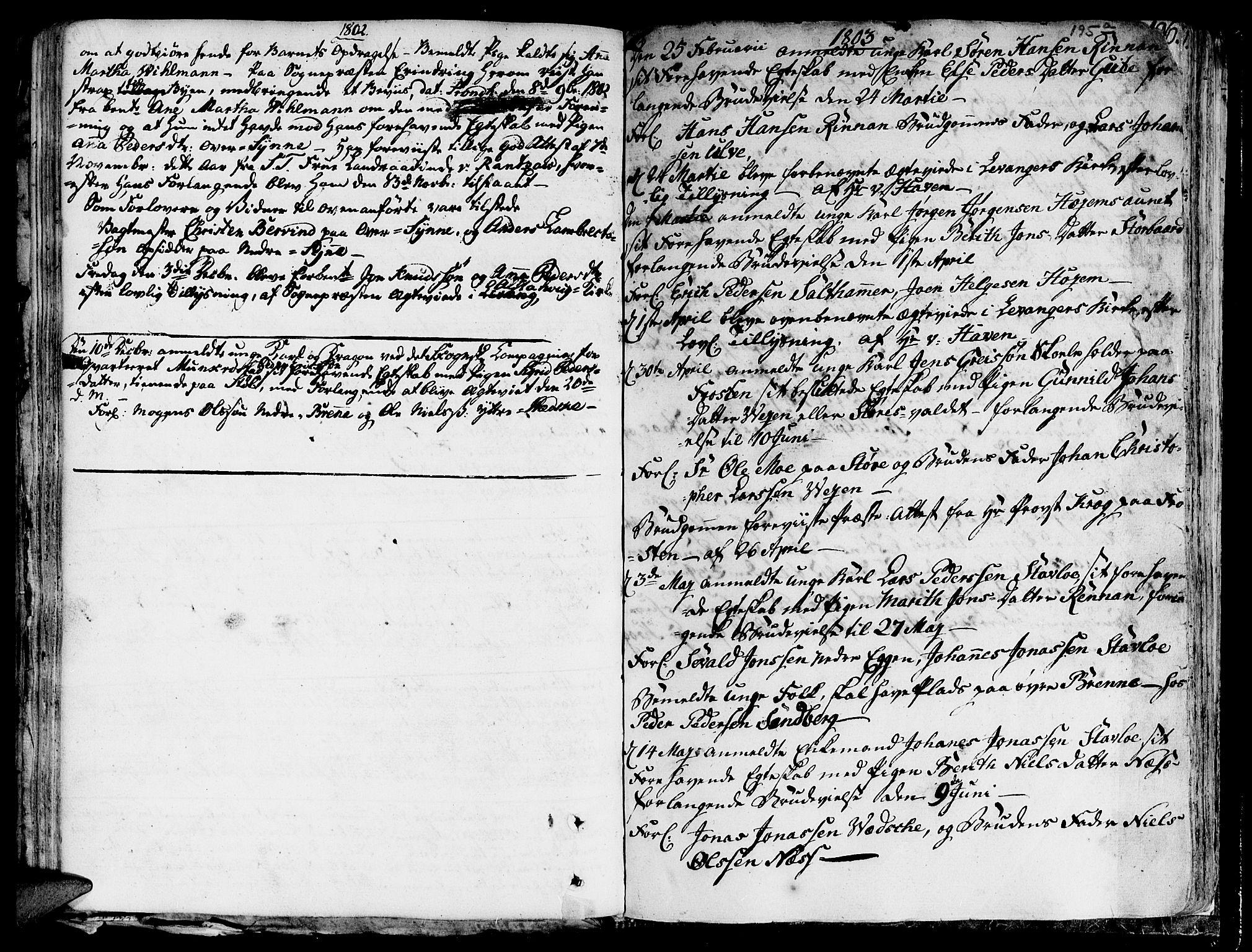 SAT, Ministerialprotokoller, klokkerbøker og fødselsregistre - Nord-Trøndelag, 717/L0142: Ministerialbok nr. 717A02 /1, 1783-1809, s. 195b