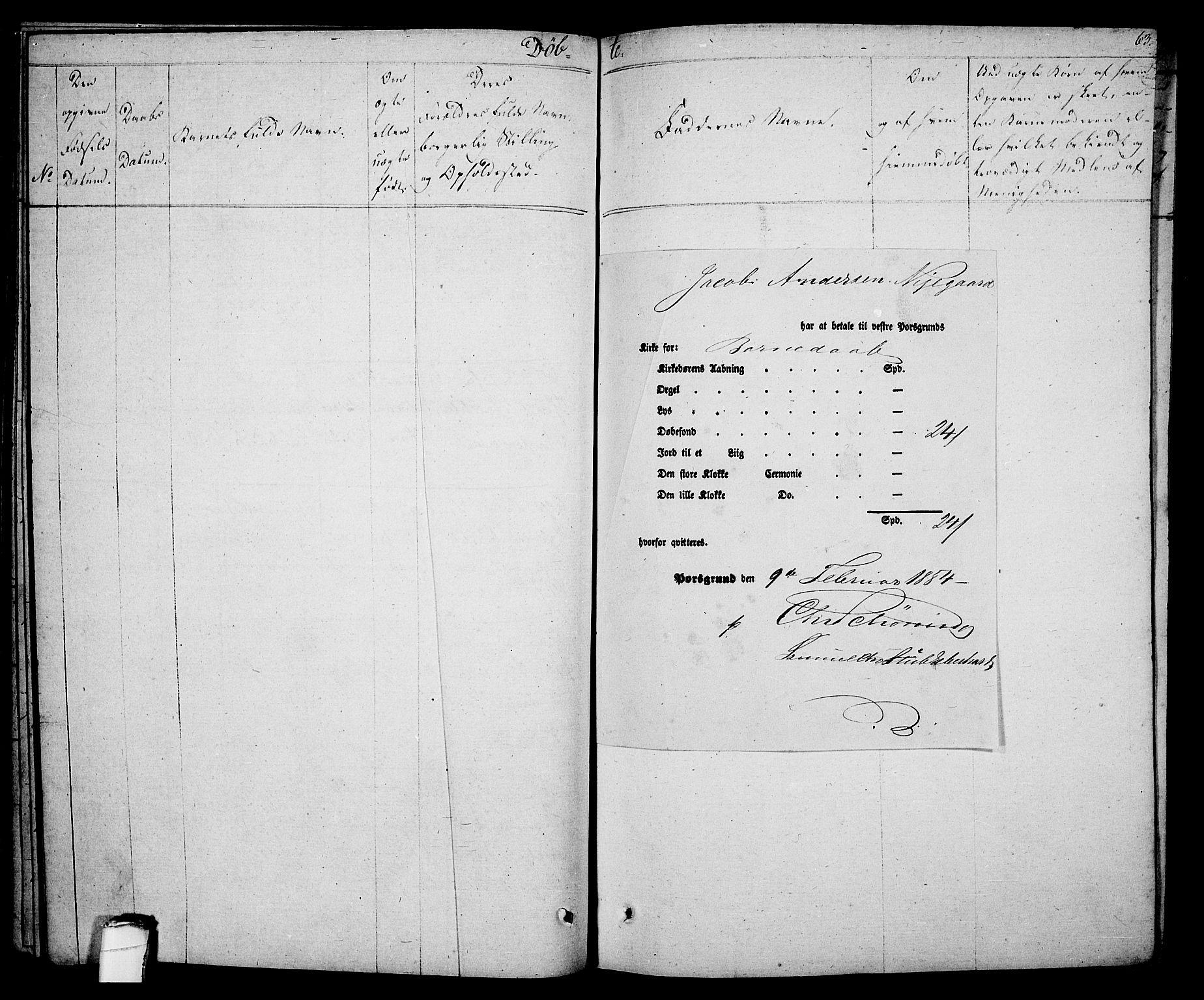 SAKO, Porsgrunn kirkebøker , F/Fa/L0005: Ministerialbok nr. 5, 1828-1840, s. 63