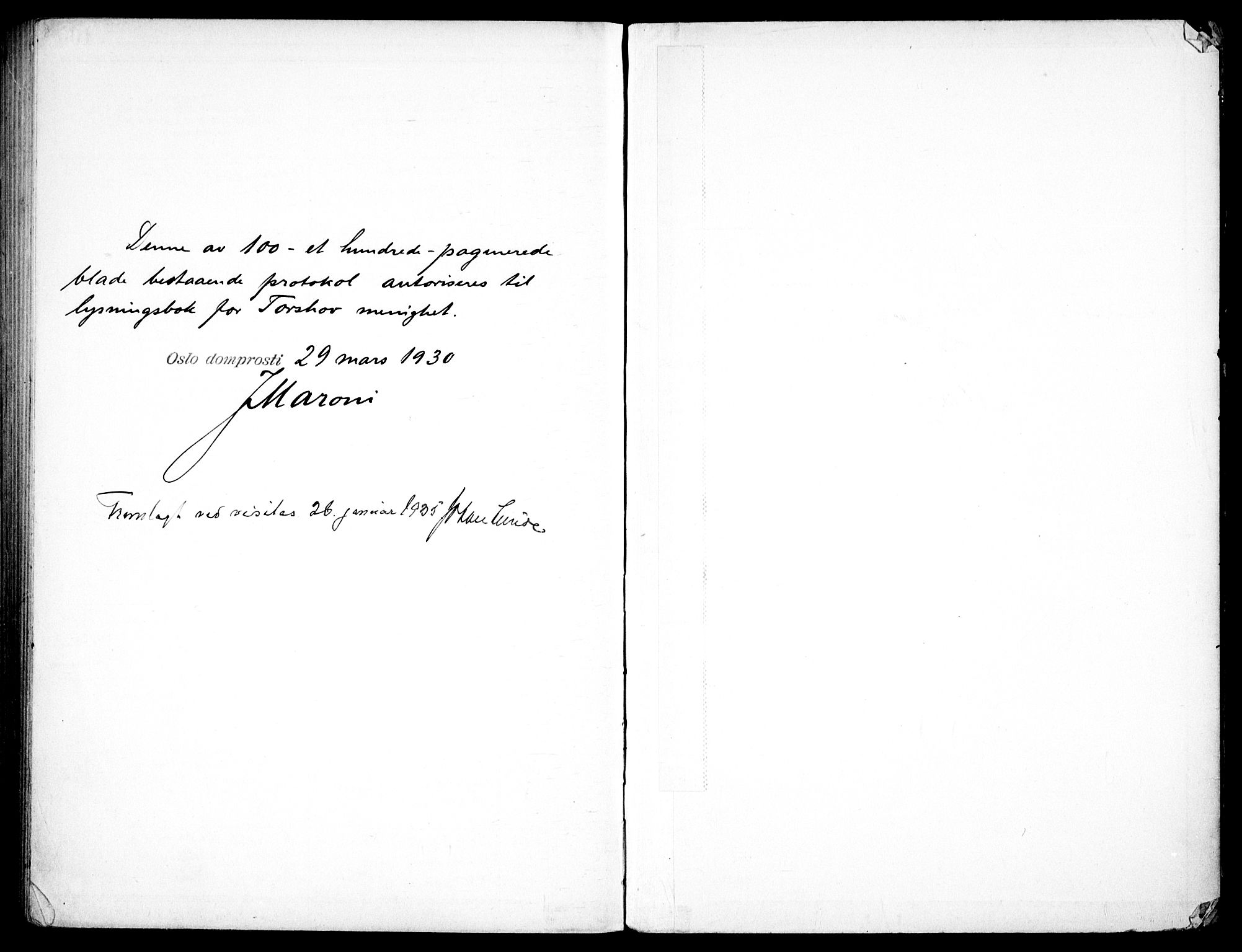 SAO, Torshov prestekontor Kirkebøker, H/Ha/L0001: Lysningsprotokoll nr. 1, 1930-1938