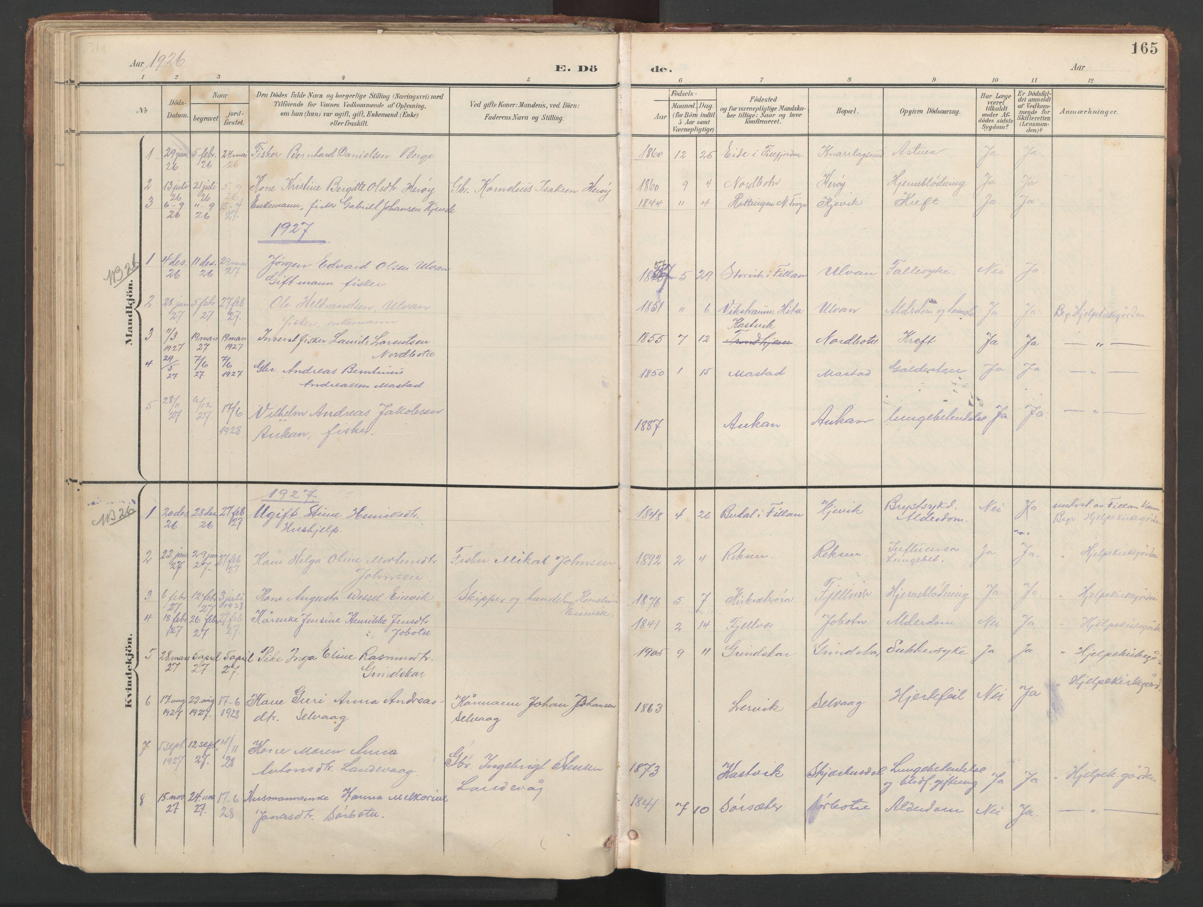 SAT, Ministerialprotokoller, klokkerbøker og fødselsregistre - Sør-Trøndelag, 638/L0571: Klokkerbok nr. 638C03, 1901-1930, s. 165