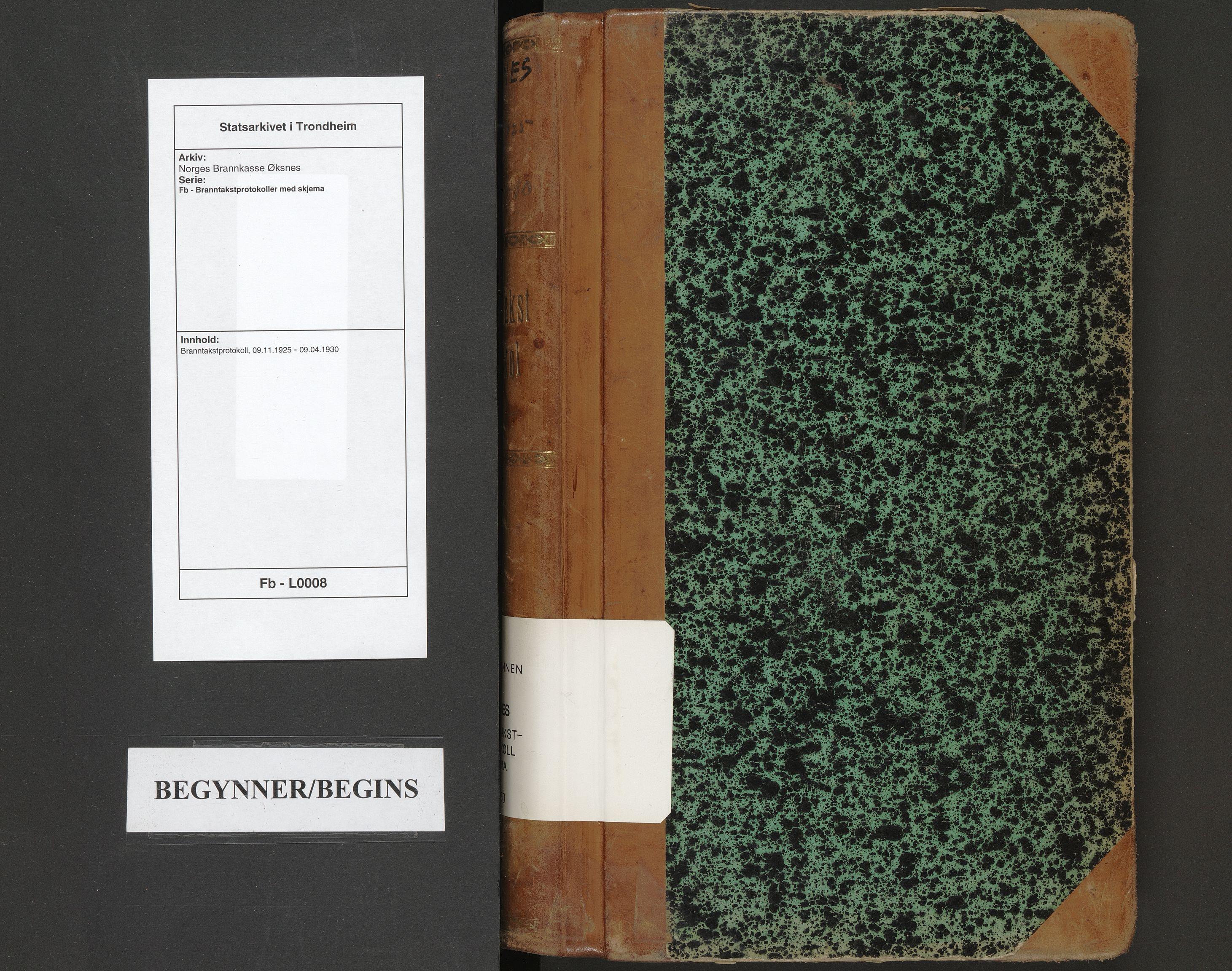 SAT, Norges Brannkasse Øksnes, Fb/L0008: Branntakstprotokoll, 1925-1930