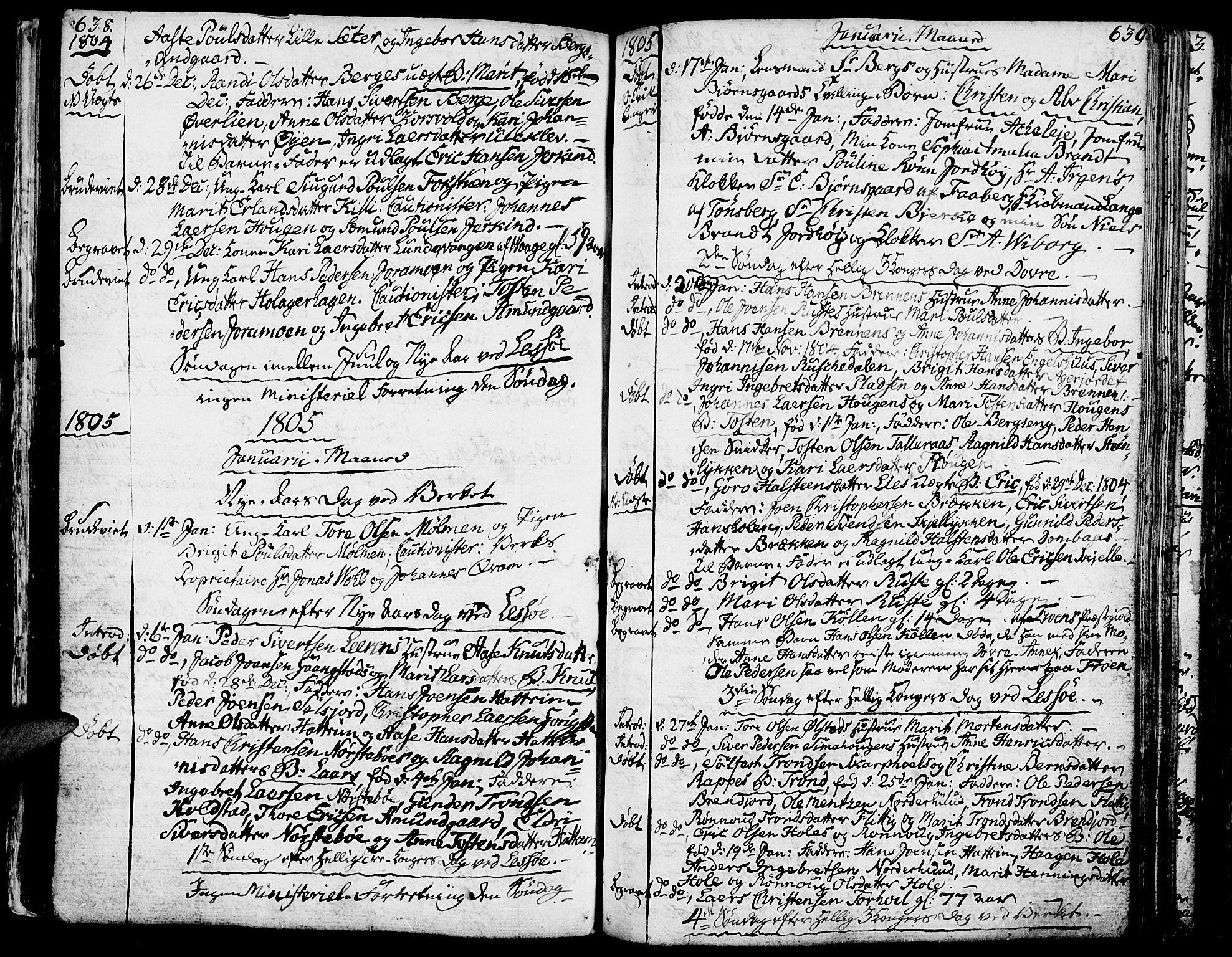SAH, Lesja prestekontor, Ministerialbok nr. 3, 1777-1819, s. 638-639