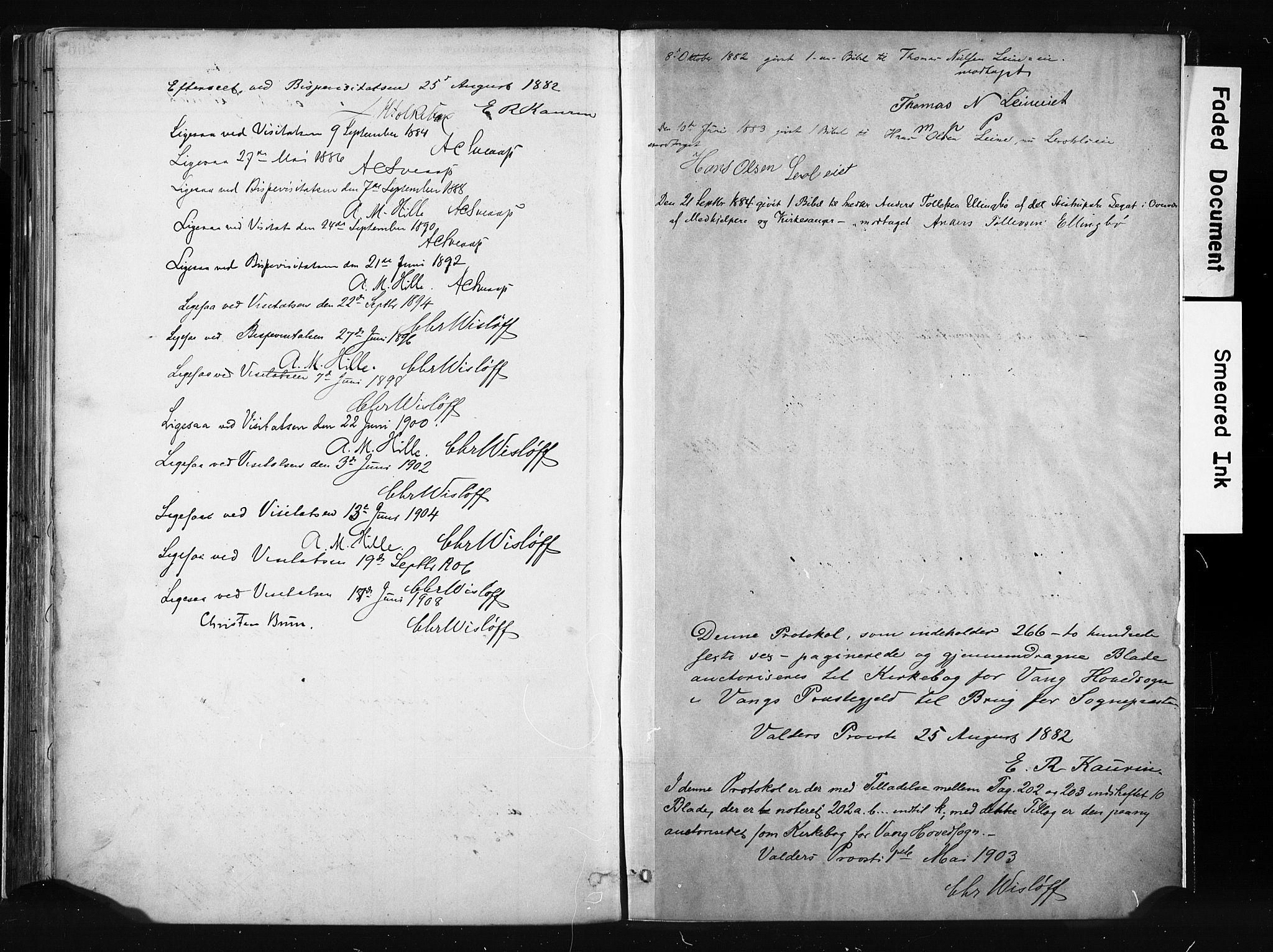 SAH, Vang prestekontor, Valdres, Ministerialbok nr. 8, 1882-1910, s. 267