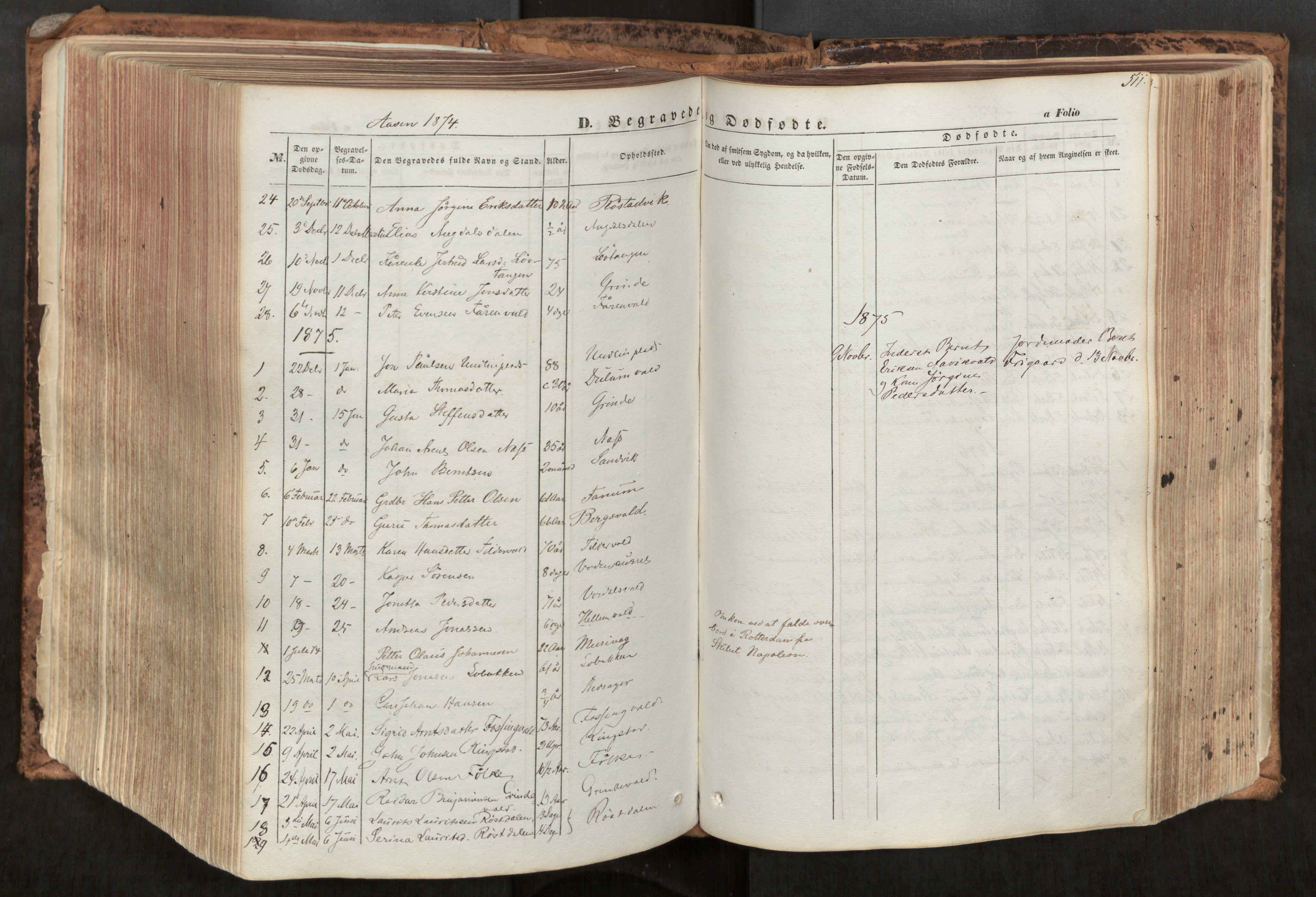 SAT, Ministerialprotokoller, klokkerbøker og fødselsregistre - Nord-Trøndelag, 713/L0116: Ministerialbok nr. 713A07, 1850-1877, s. 511