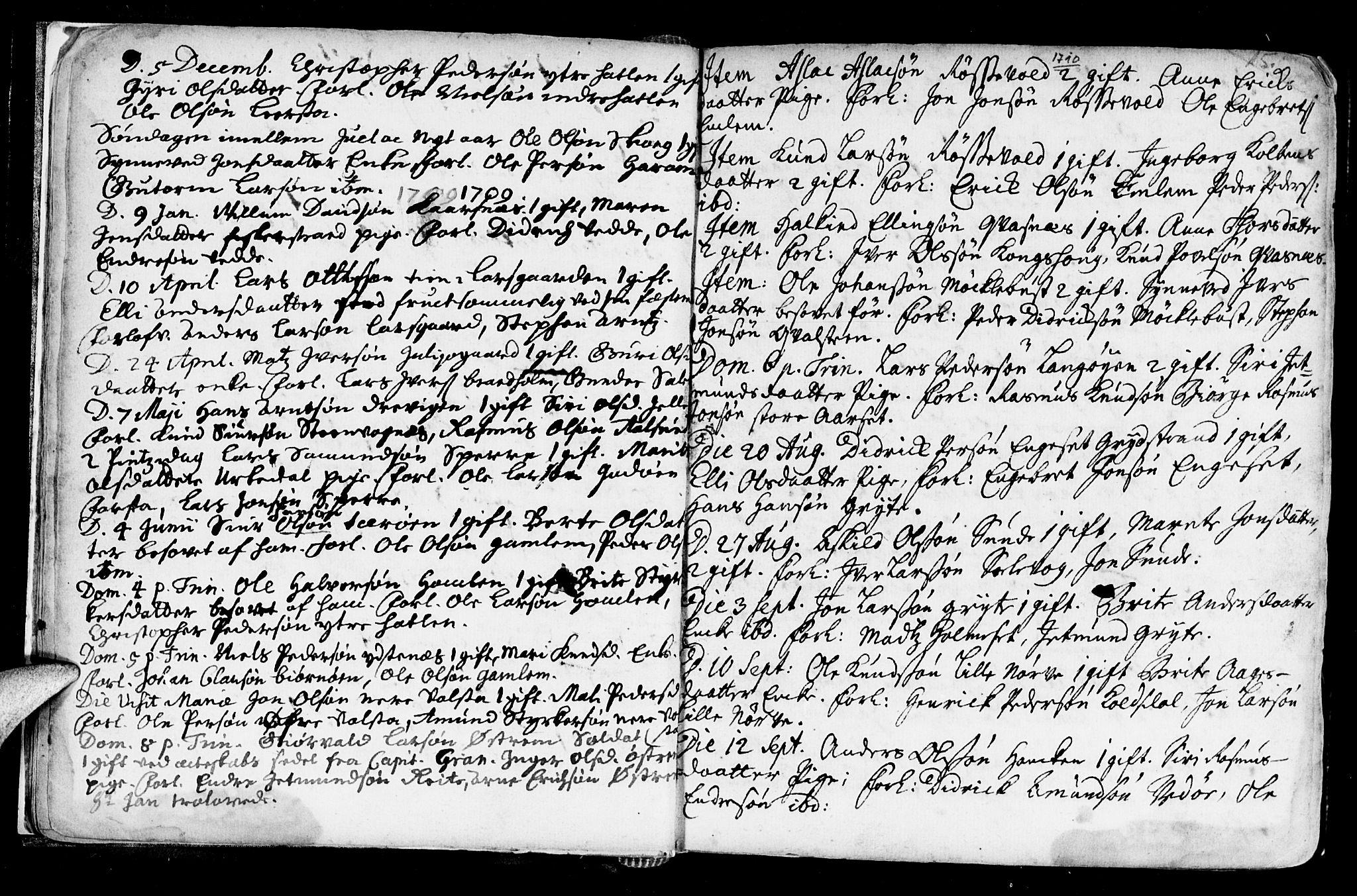 SAT, Ministerialprotokoller, klokkerbøker og fødselsregistre - Møre og Romsdal, 528/L0390: Ministerialbok nr. 528A01, 1698-1739, s. 14-15