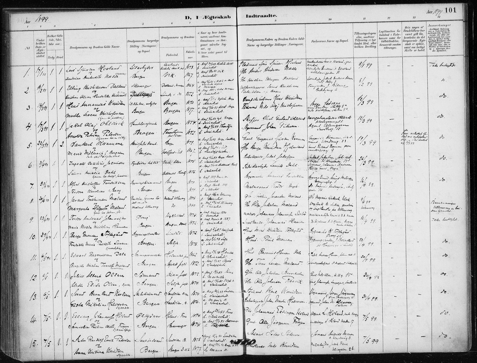 SAB, Mariakirken Sokneprestembete, H/Haa/L0013: Ministerialbok nr. C 1, 1889-1900, s. 101