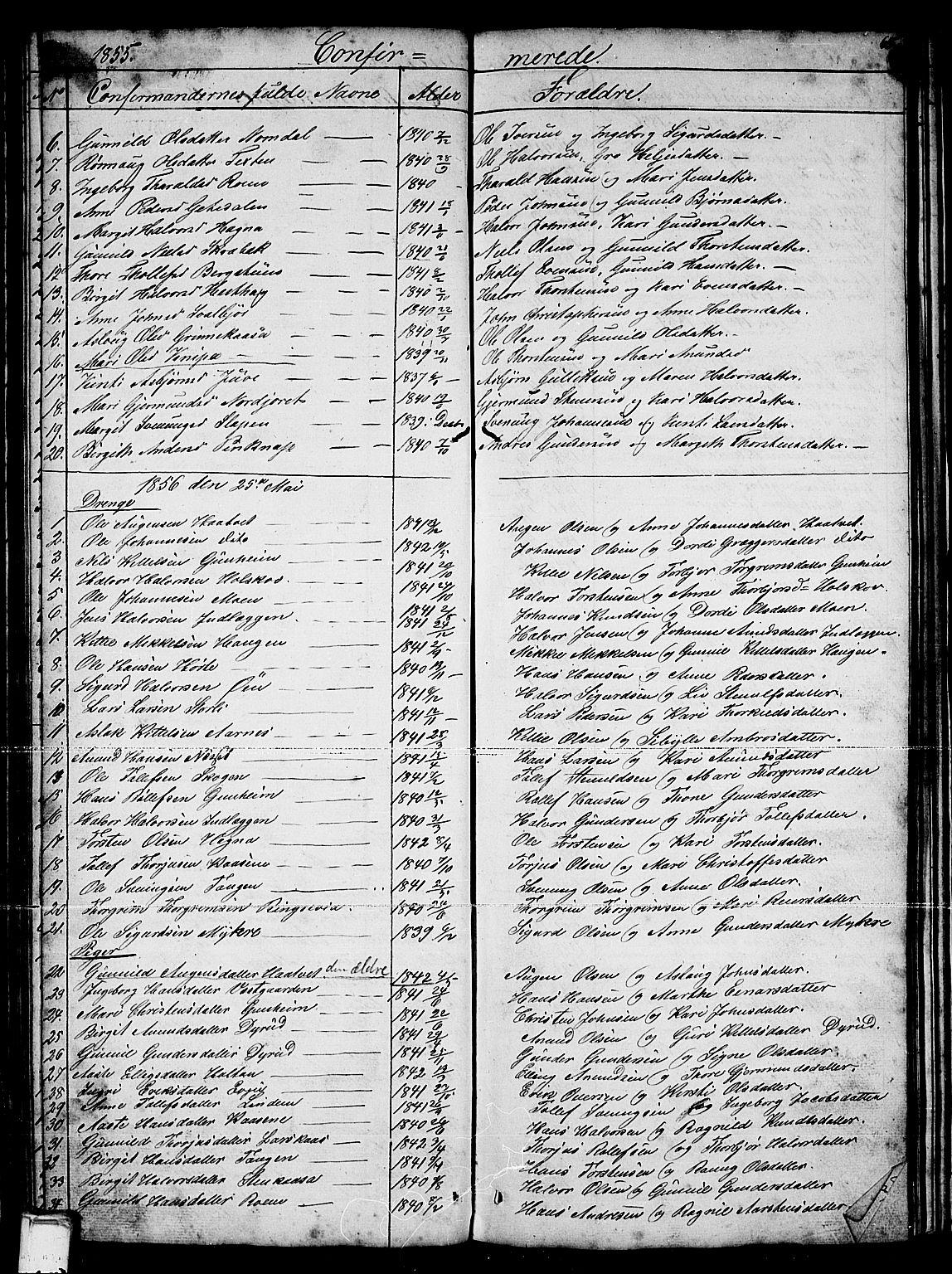 SAKO, Sauherad kirkebøker, G/Gb/L0001: Klokkerbok nr. II 1, 1845-1865, s. 65
