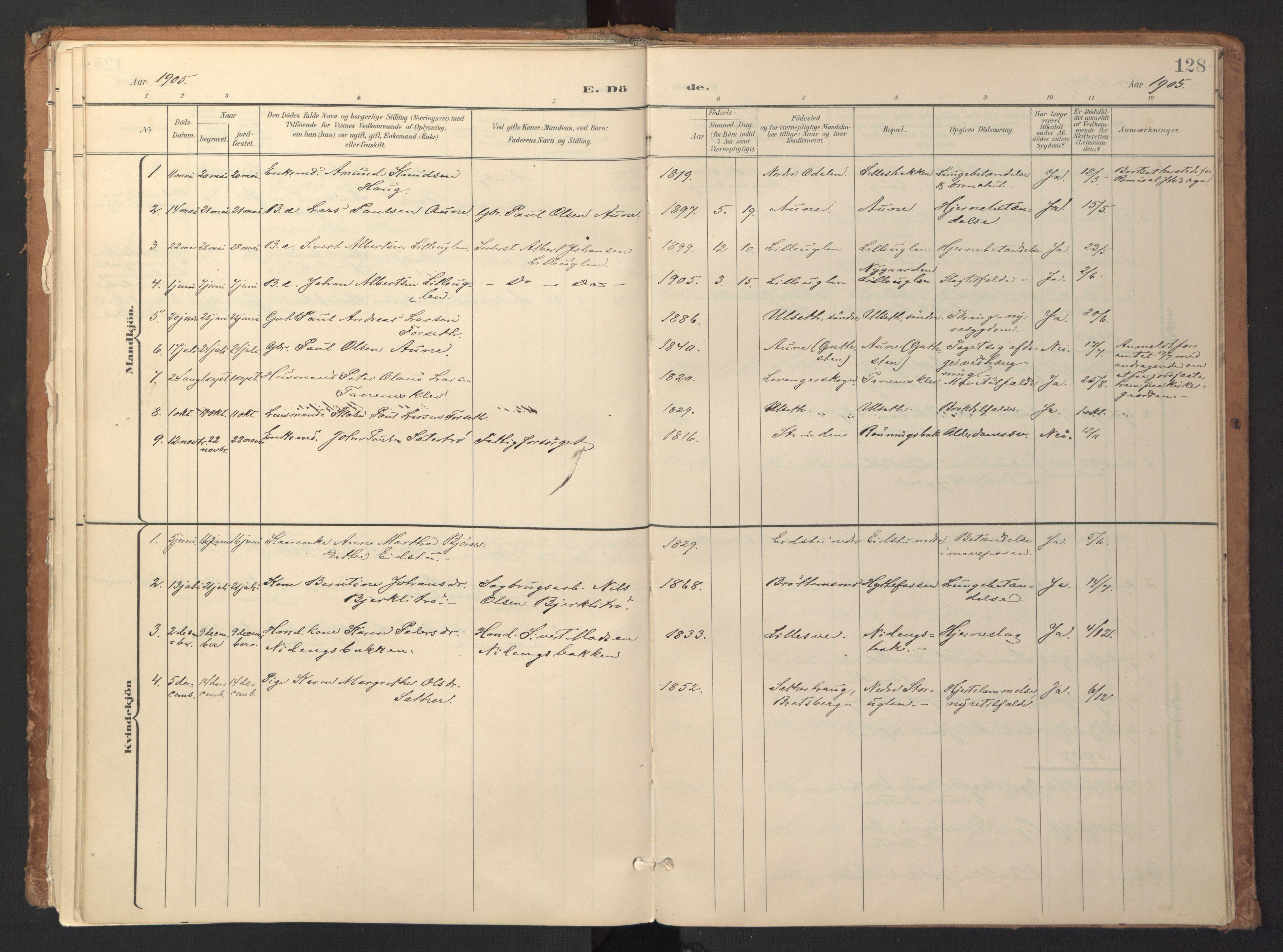 SAT, Ministerialprotokoller, klokkerbøker og fødselsregistre - Sør-Trøndelag, 618/L0448: Ministerialbok nr. 618A11, 1898-1916, s. 128