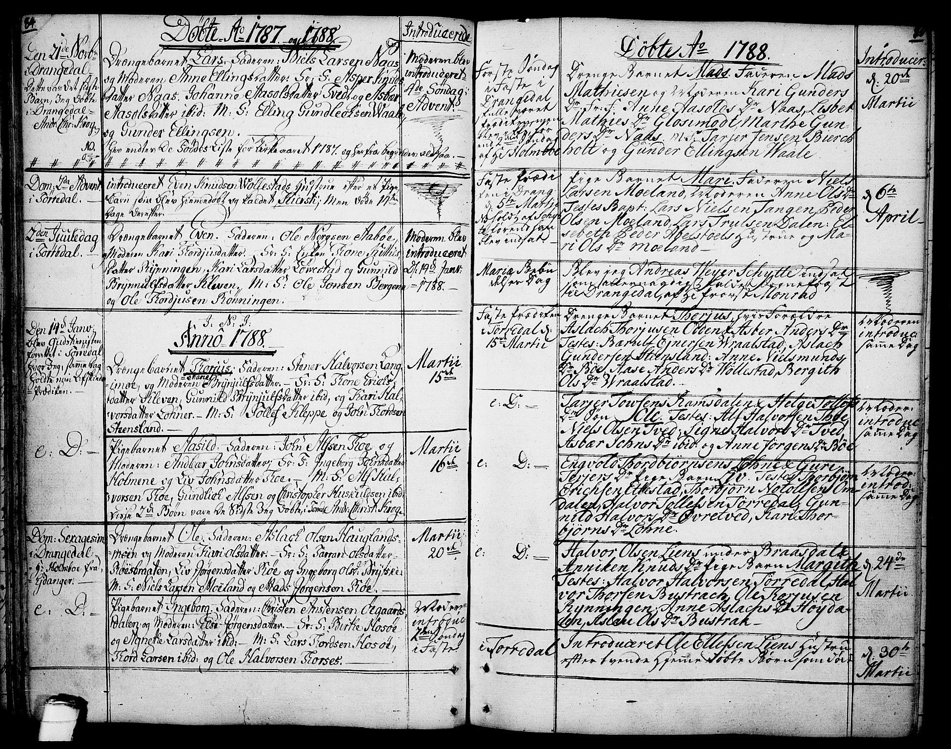 SAKO, Drangedal kirkebøker, F/Fa/L0003: Ministerialbok nr. 3, 1768-1814, s. 84-85