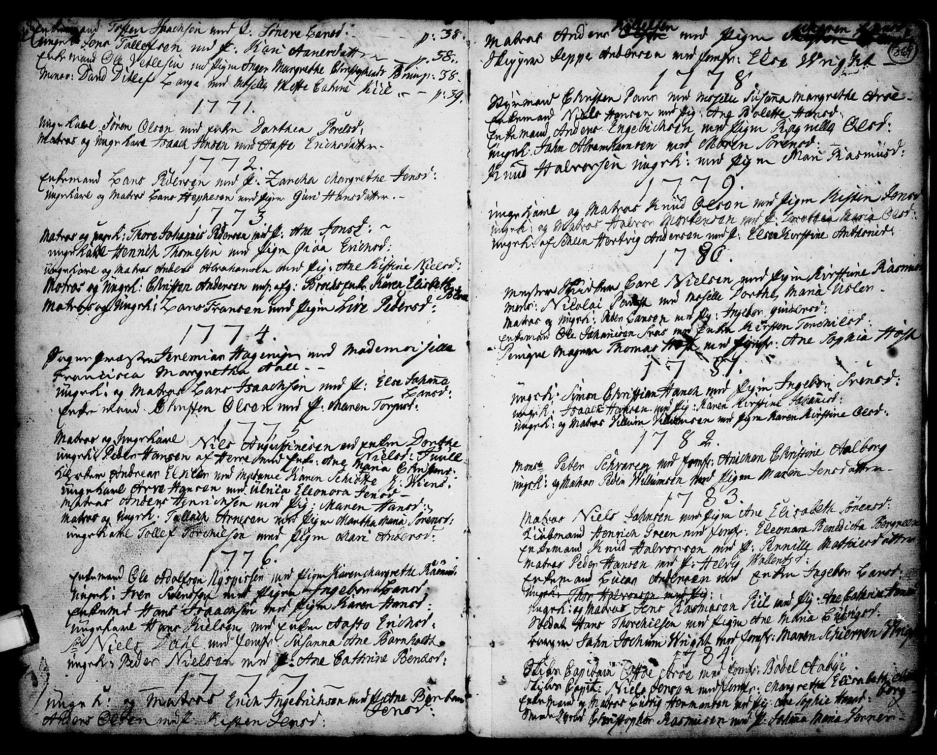 SAKO, Porsgrunn kirkebøker , F/Fa/L0001: Ministerialbok nr. 1, 1764-1814, s. 368-369