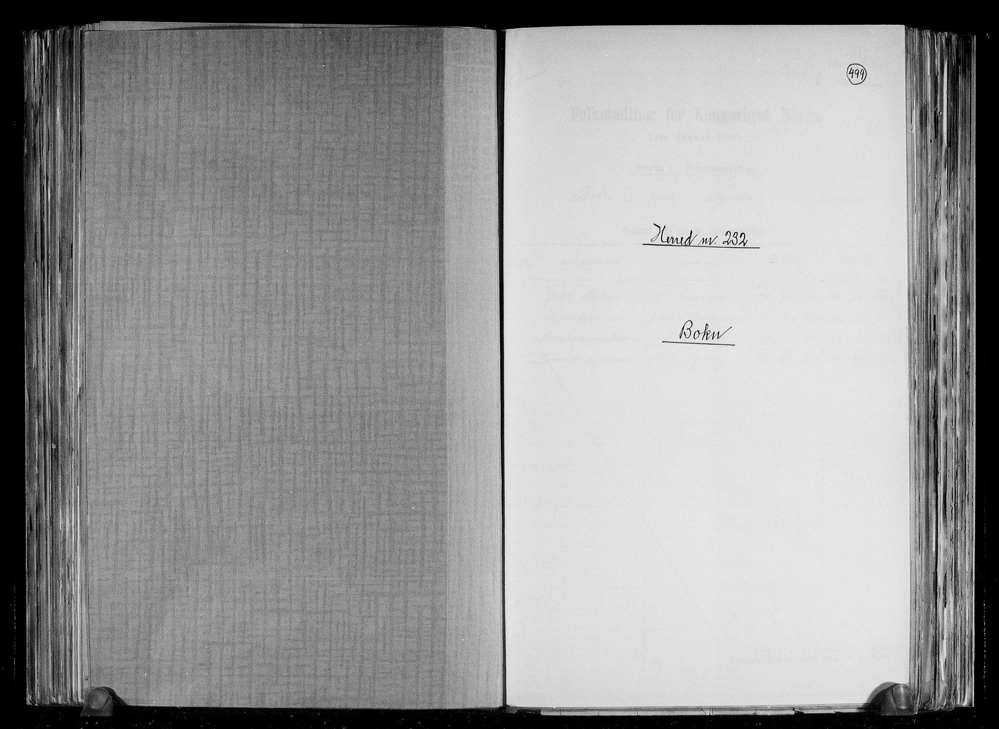 RA, Folketelling 1891 for 1145 Bokn herred, 1891, s. 1
