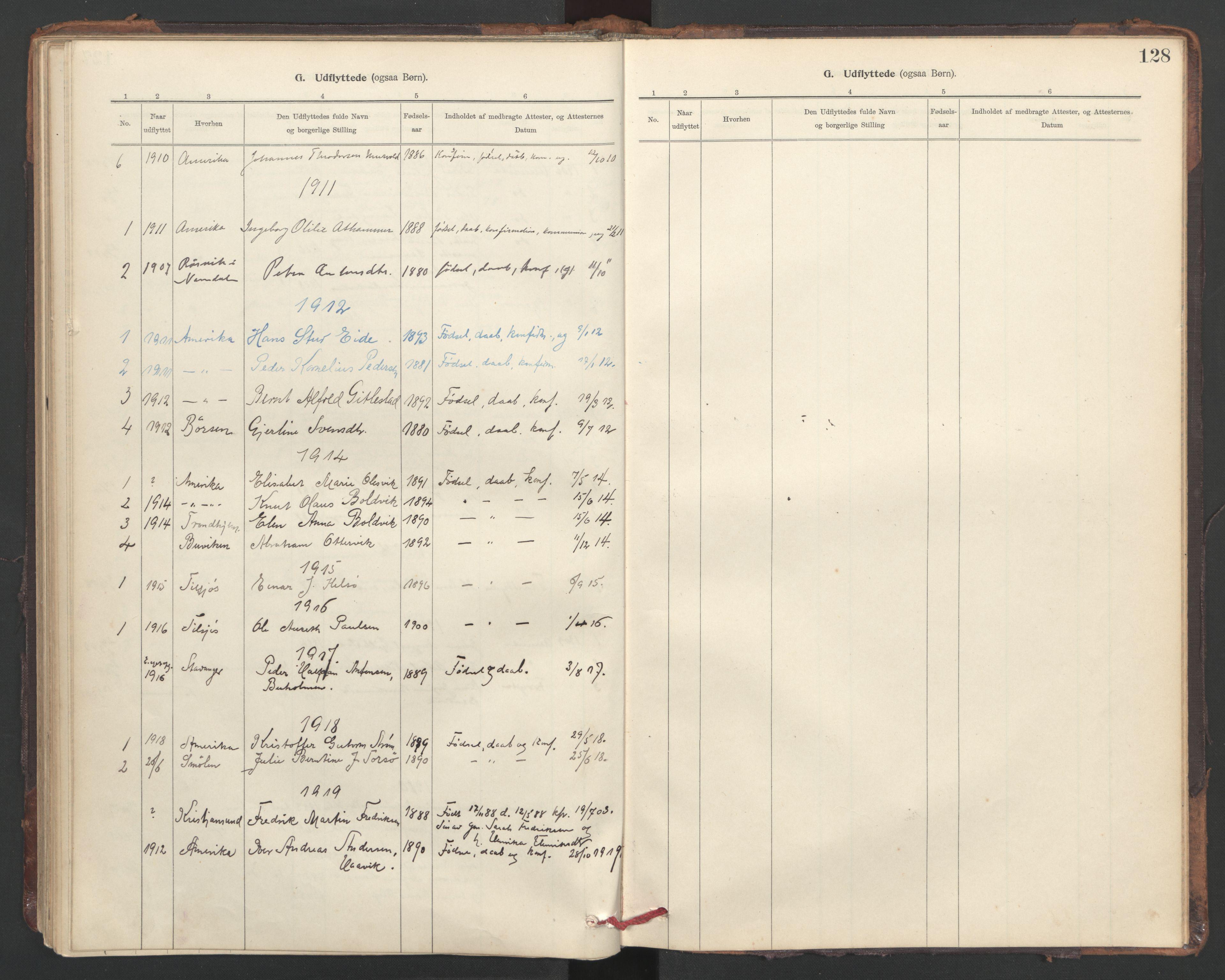 SAT, Ministerialprotokoller, klokkerbøker og fødselsregistre - Sør-Trøndelag, 635/L0552: Ministerialbok nr. 635A02, 1899-1919, s. 128