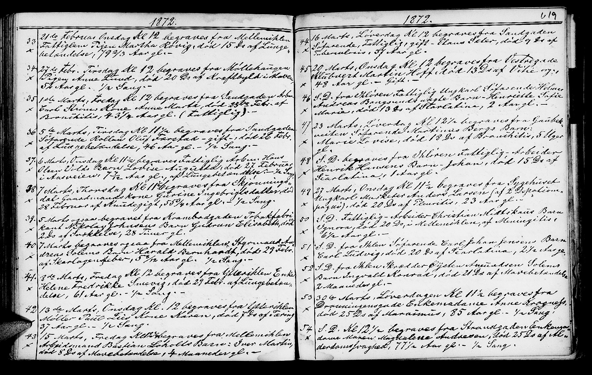 SAT, Ministerialprotokoller, klokkerbøker og fødselsregistre - Sør-Trøndelag, 602/L0140: Klokkerbok nr. 602C08, 1864-1872, s. 618-619