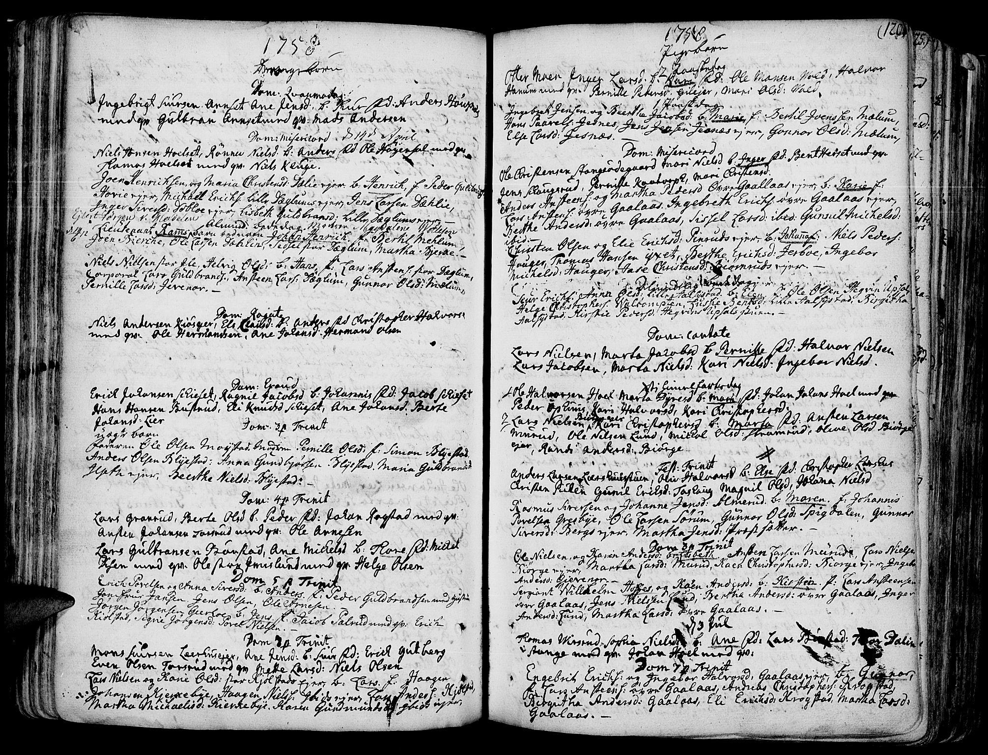 SAH, Vang prestekontor, Hedmark, H/Ha/Haa/L0003: Ministerialbok nr. 3, 1734-1809, s. 120