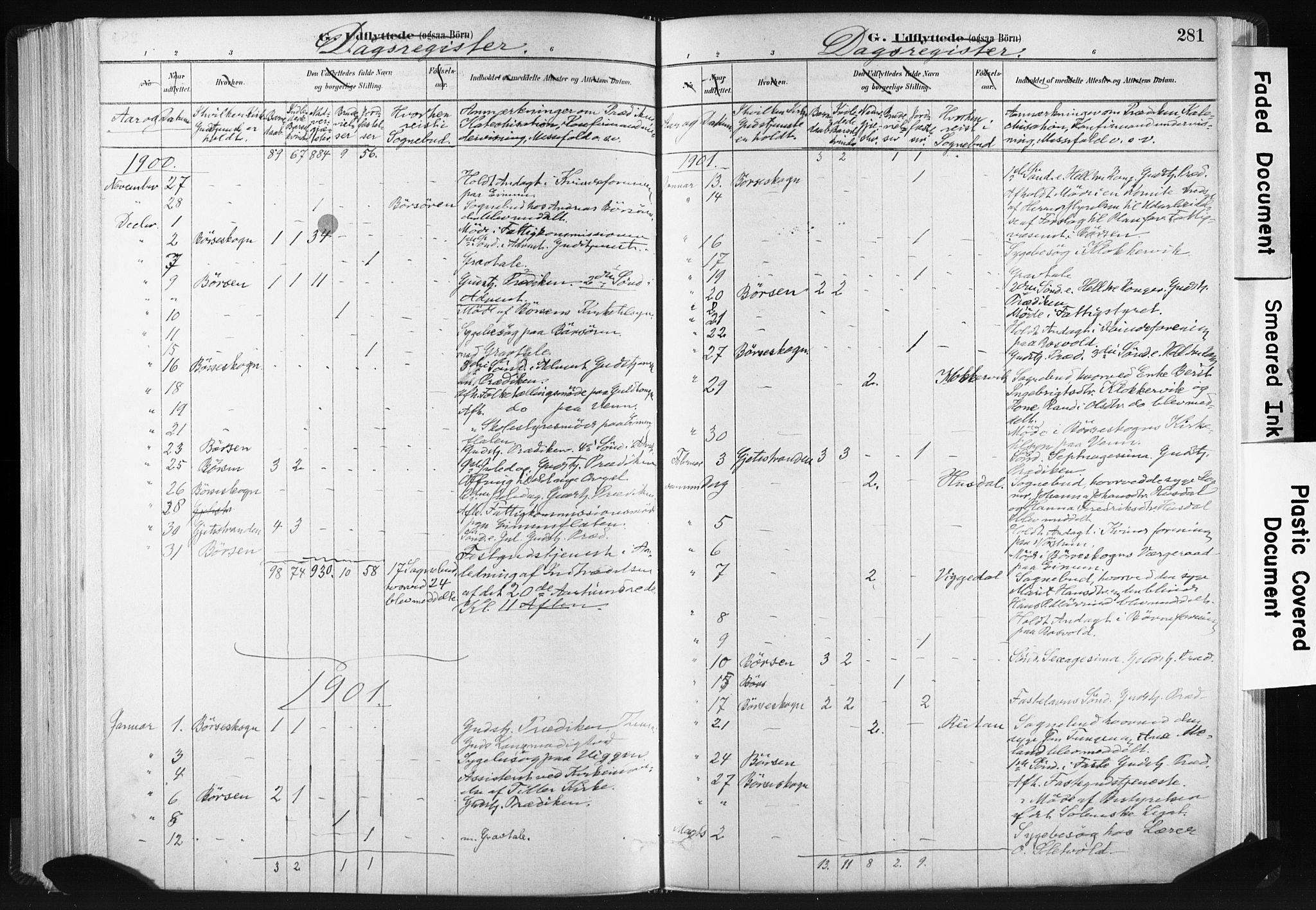 SAT, Ministerialprotokoller, klokkerbøker og fødselsregistre - Sør-Trøndelag, 665/L0773: Ministerialbok nr. 665A08, 1879-1905, s. 281