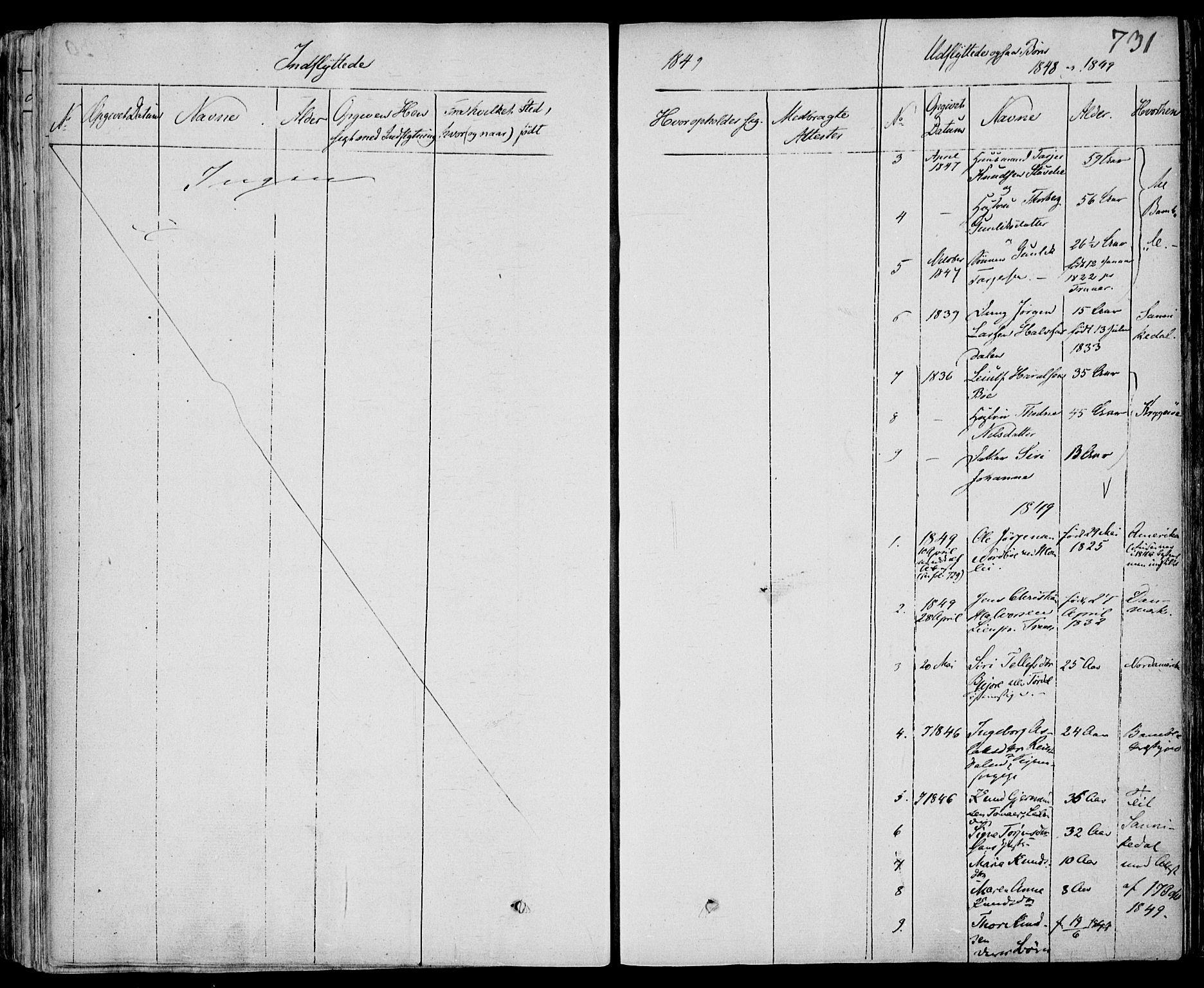 SAKO, Drangedal kirkebøker, F/Fa/L0007b: Ministerialbok nr. 7b, 1837-1856, s. 731