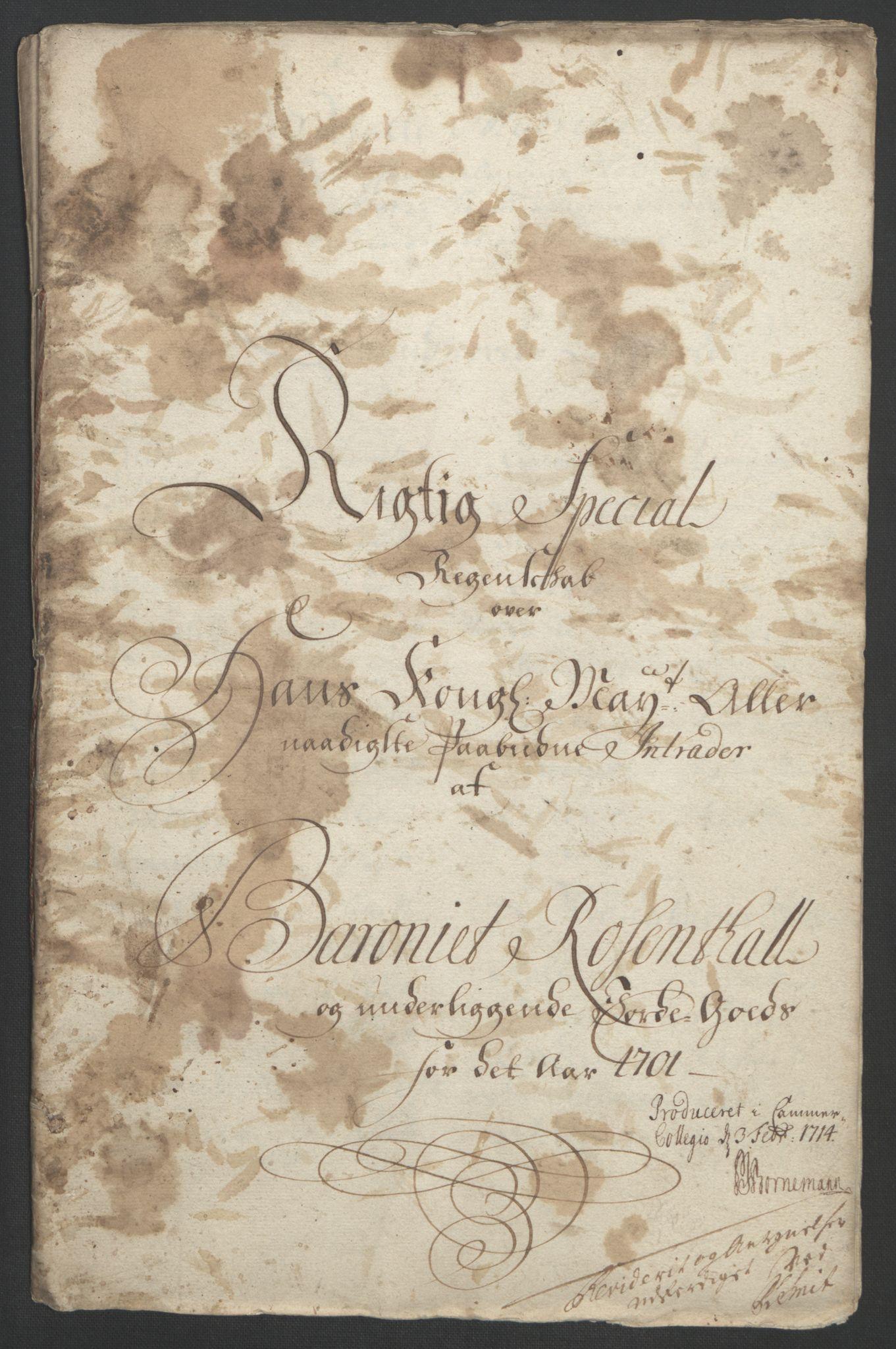 RA, Rentekammeret inntil 1814, Reviderte regnskaper, Fogderegnskap, R49/L3138: Fogderegnskap Rosendal Baroni, 1691-1714, s. 112
