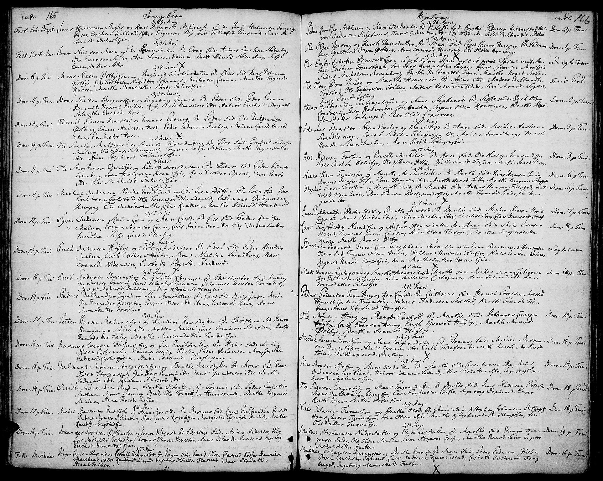 SAH, Ringsaker prestekontor, K/Ka/L0002: Ministerialbok nr. 2, 1747-1774, s. 165-166