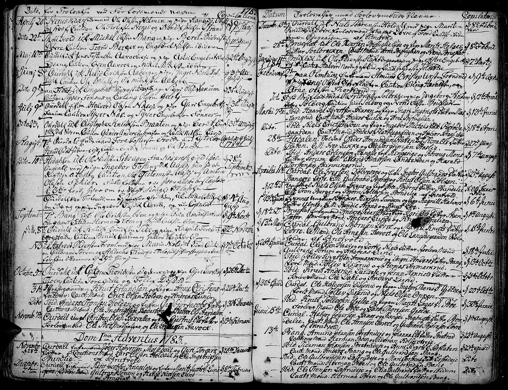 SAH, Aurdal prestekontor, Ministerialbok nr. 6, 1781-1804, s. 131