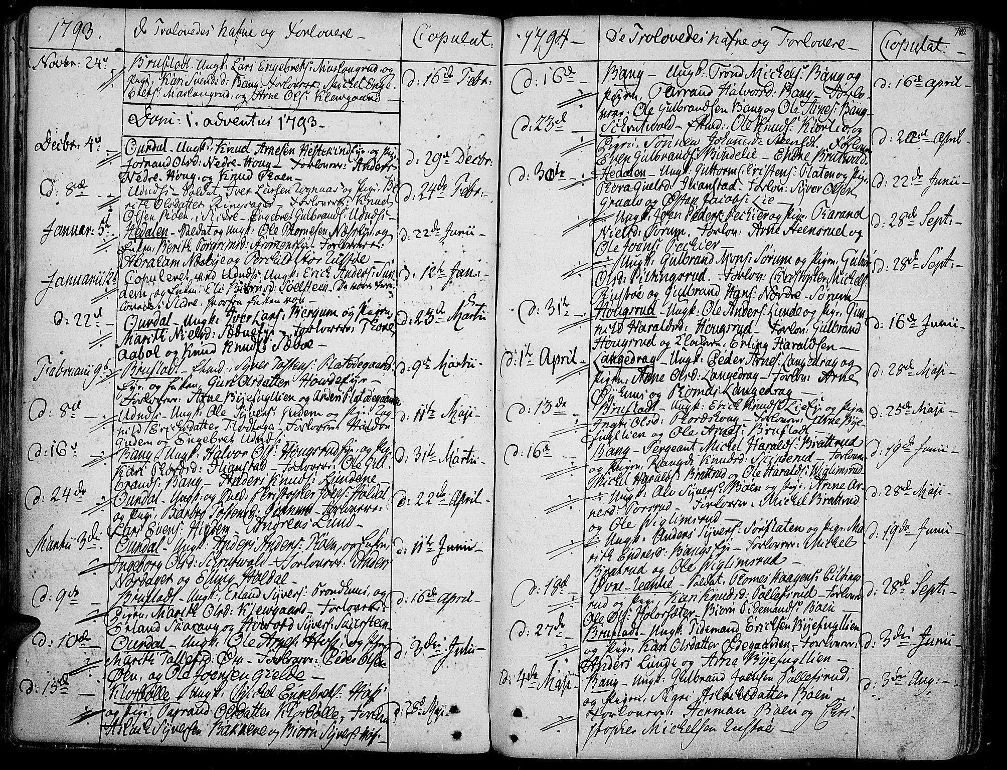 SAH, Aurdal prestekontor, Ministerialbok nr. 6, 1781-1804, s. 140