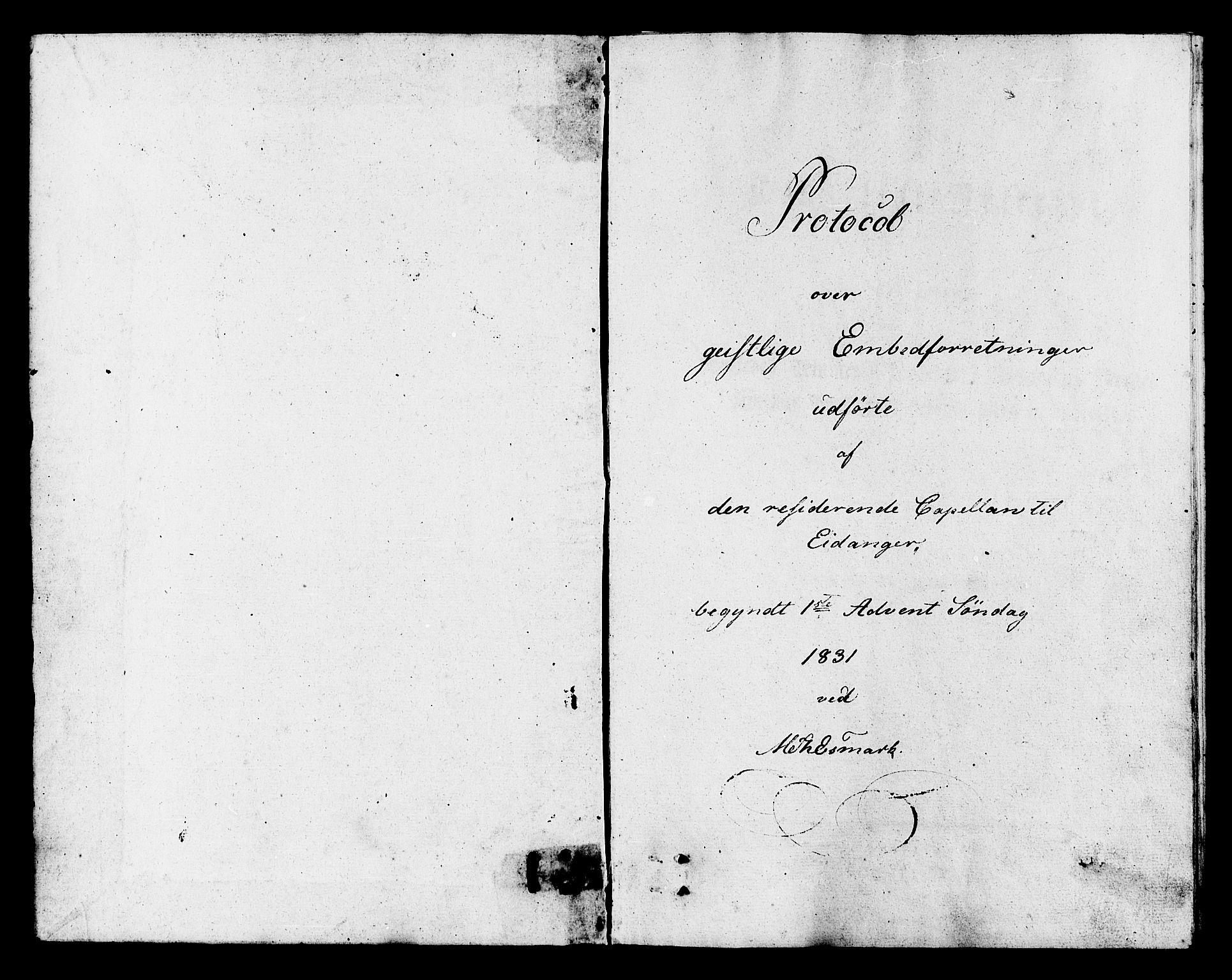 SAKO, Eidanger kirkebøker, F/Fa/L0009: Ministerialbok nr. 9, 1831-1849