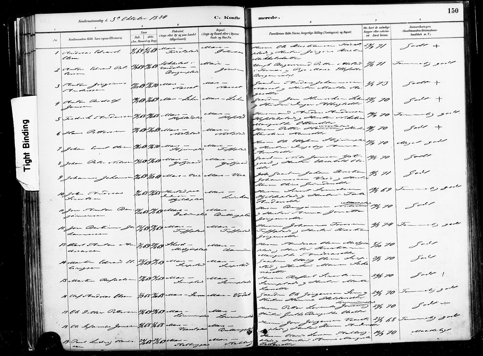 SAT, Ministerialprotokoller, klokkerbøker og fødselsregistre - Nord-Trøndelag, 735/L0351: Ministerialbok nr. 735A10, 1884-1908, s. 150