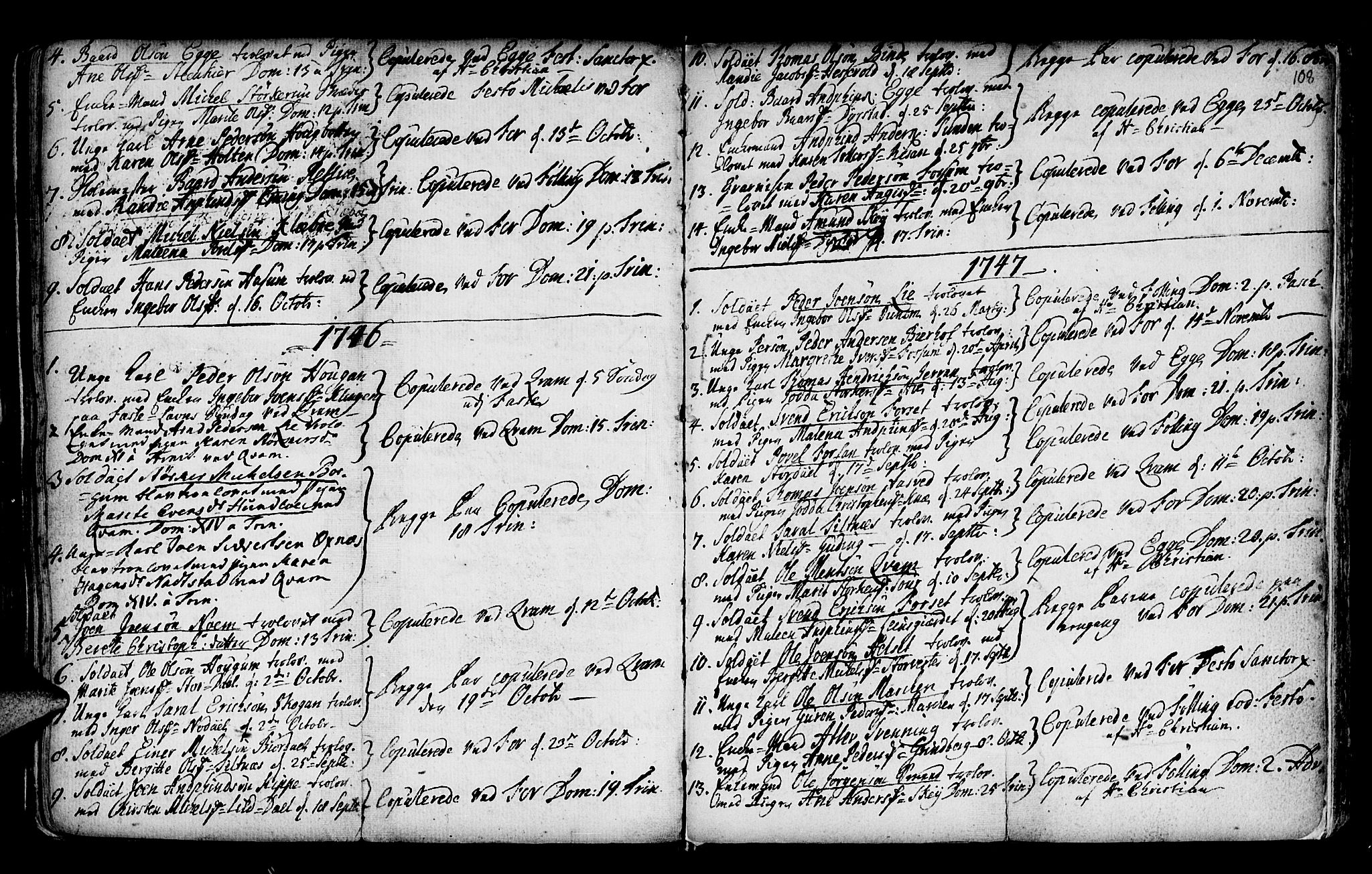 SAT, Ministerialprotokoller, klokkerbøker og fødselsregistre - Nord-Trøndelag, 746/L0439: Ministerialbok nr. 746A01, 1688-1759, s. 108
