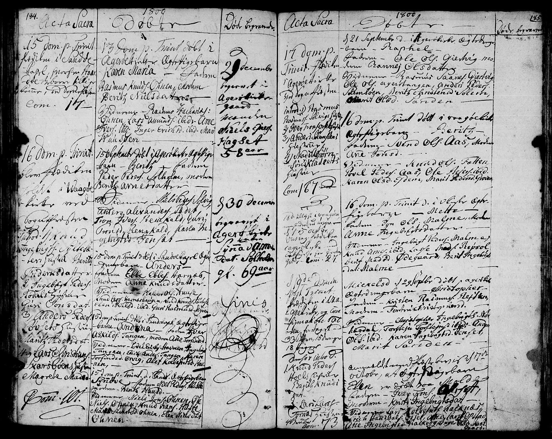 SAT, Ministerialprotokoller, klokkerbøker og fødselsregistre - Møre og Romsdal, 560/L0717: Ministerialbok nr. 560A01, 1785-1808, s. 184-185