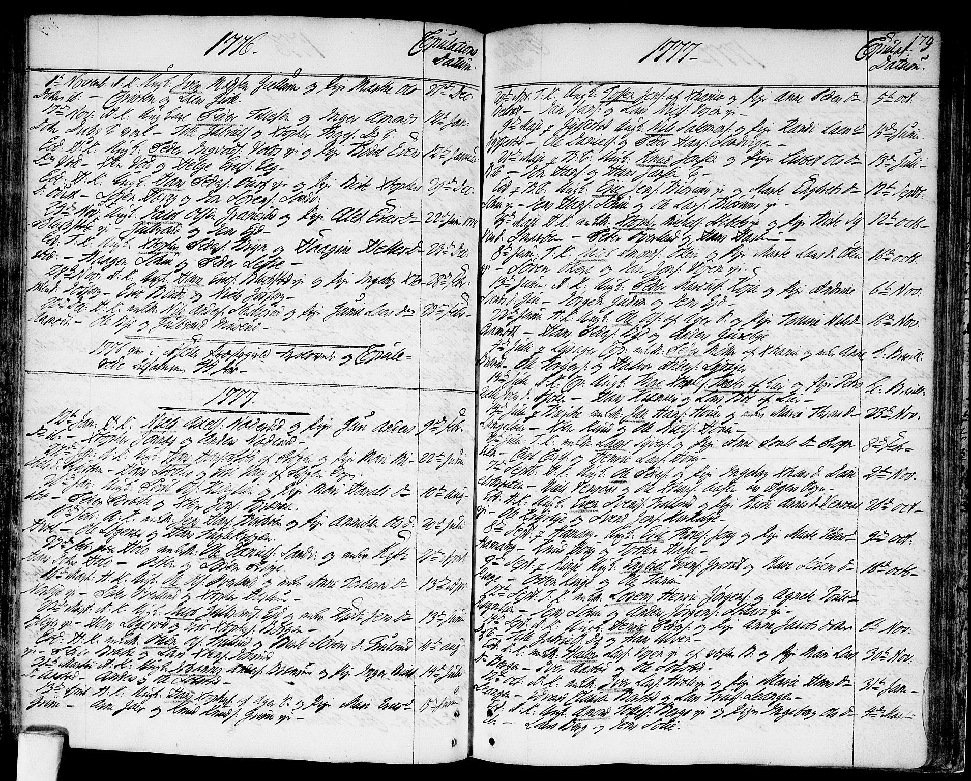 SAO, Asker prestekontor Kirkebøker, F/Fa/L0003: Ministerialbok nr. I 3, 1767-1807, s. 179