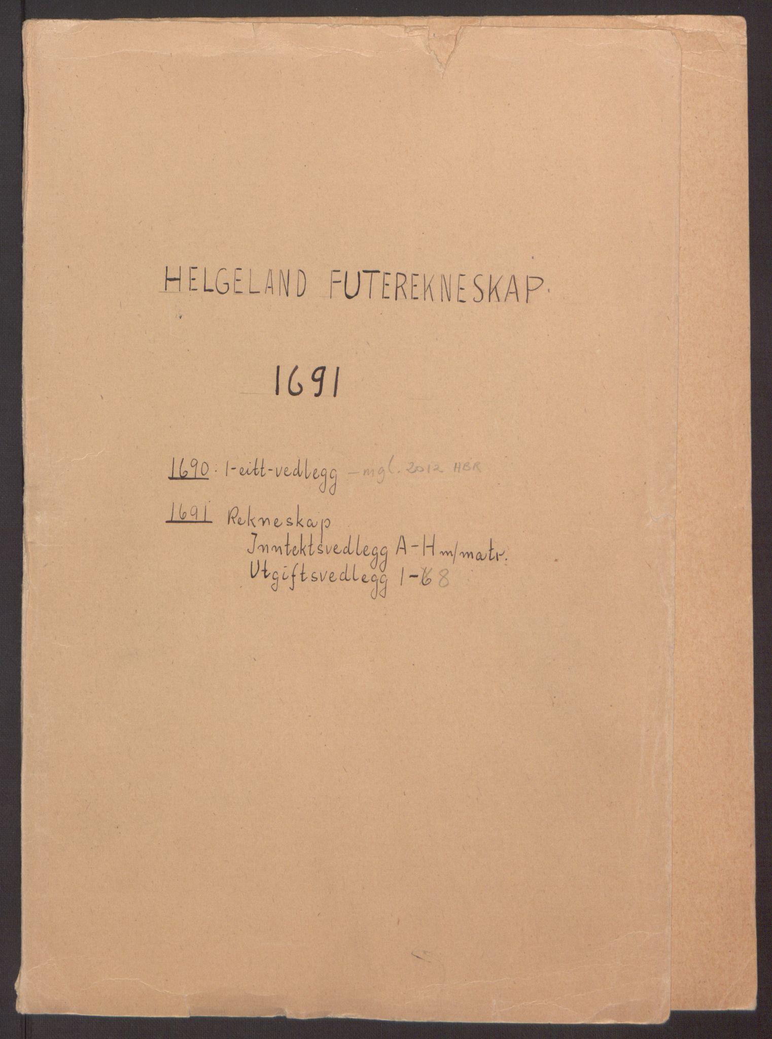 RA, Rentekammeret inntil 1814, Reviderte regnskaper, Fogderegnskap, R65/L4504: Fogderegnskap Helgeland, 1691-1692, s. 2