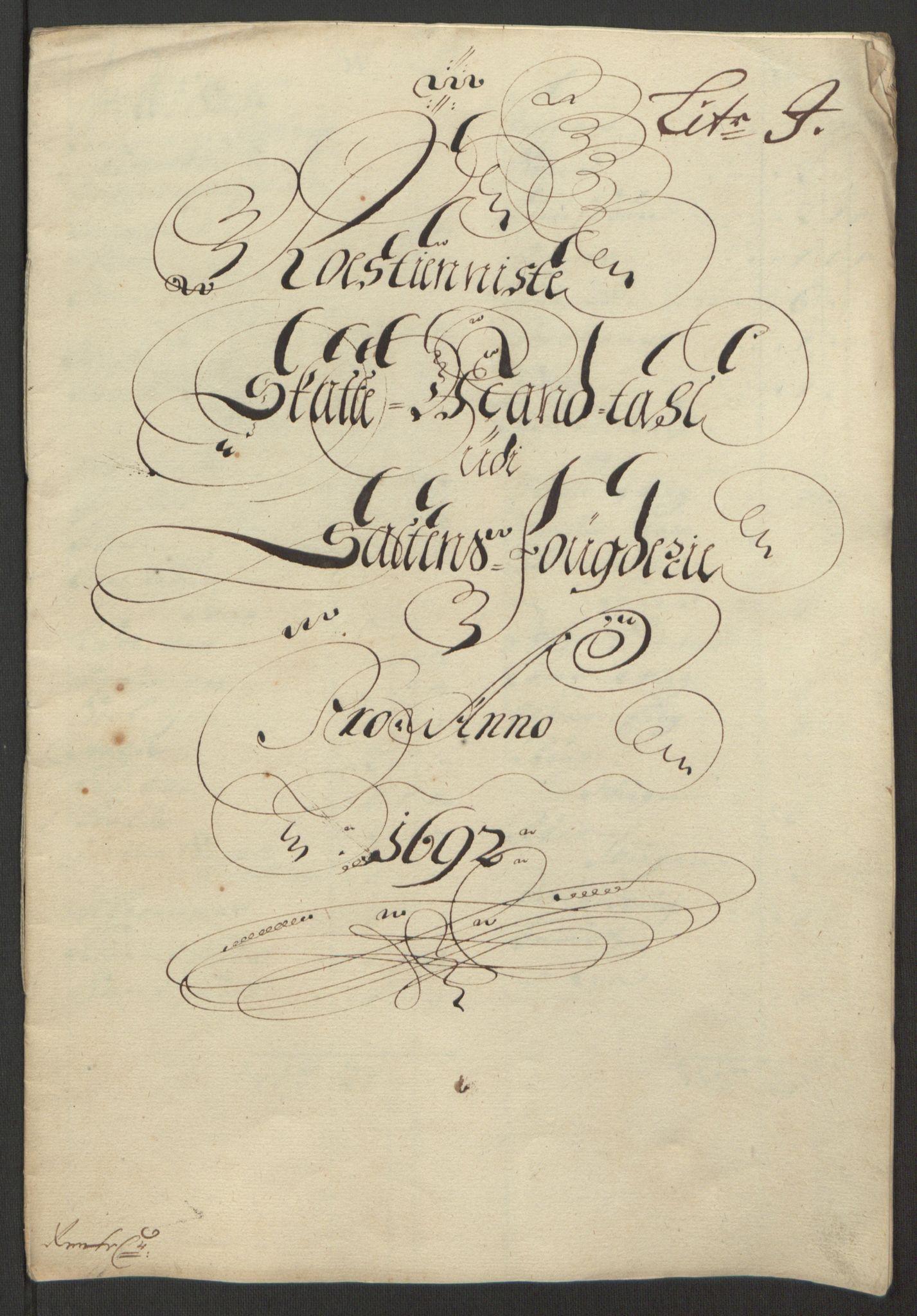 RA, Rentekammeret inntil 1814, Reviderte regnskaper, Fogderegnskap, R66/L4577: Fogderegnskap Salten, 1691-1693, s. 224