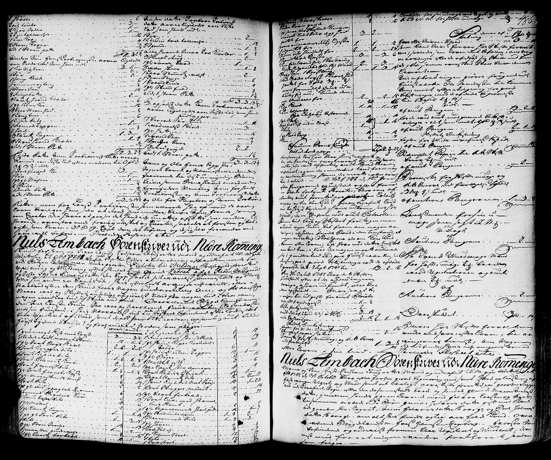 SAO, Nedre Romerike sorenskriveri, H/Hd/Hda/L0006a: Skifteprotokoll, 1739-1747, s. 485b-486a