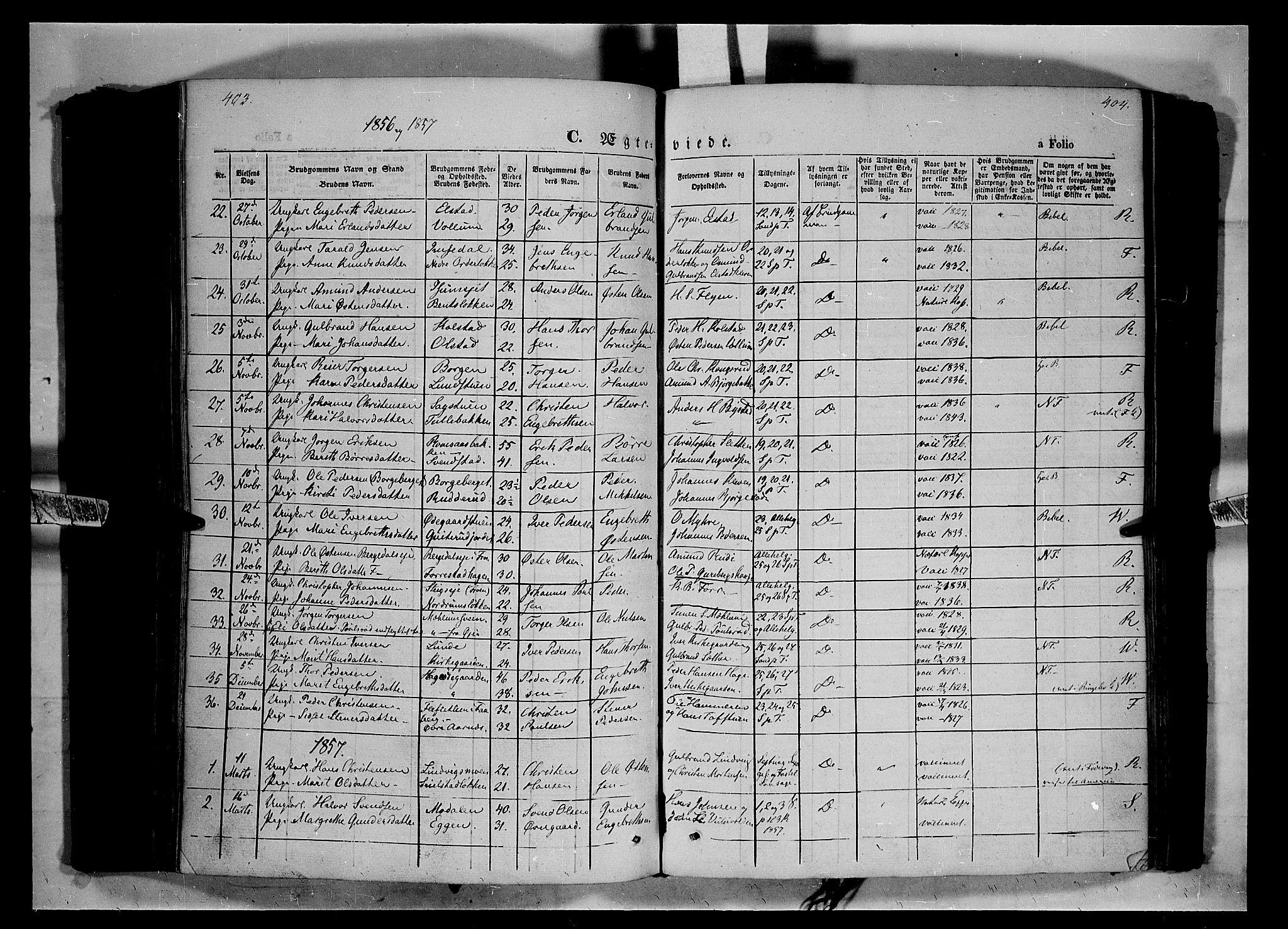 SAH, Ringebu prestekontor, Ministerialbok nr. 6, 1848-1859, s. 403-404