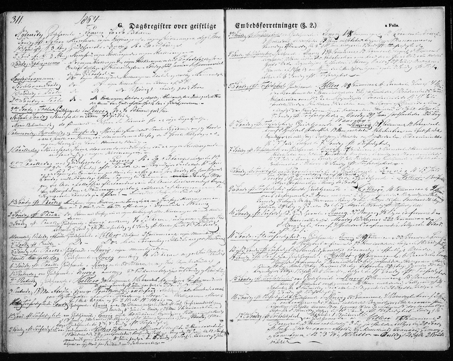 SATØ, Lenvik sokneprestembete, H/Ha: Ministerialbok nr. 7, 1855-1865, s. 311