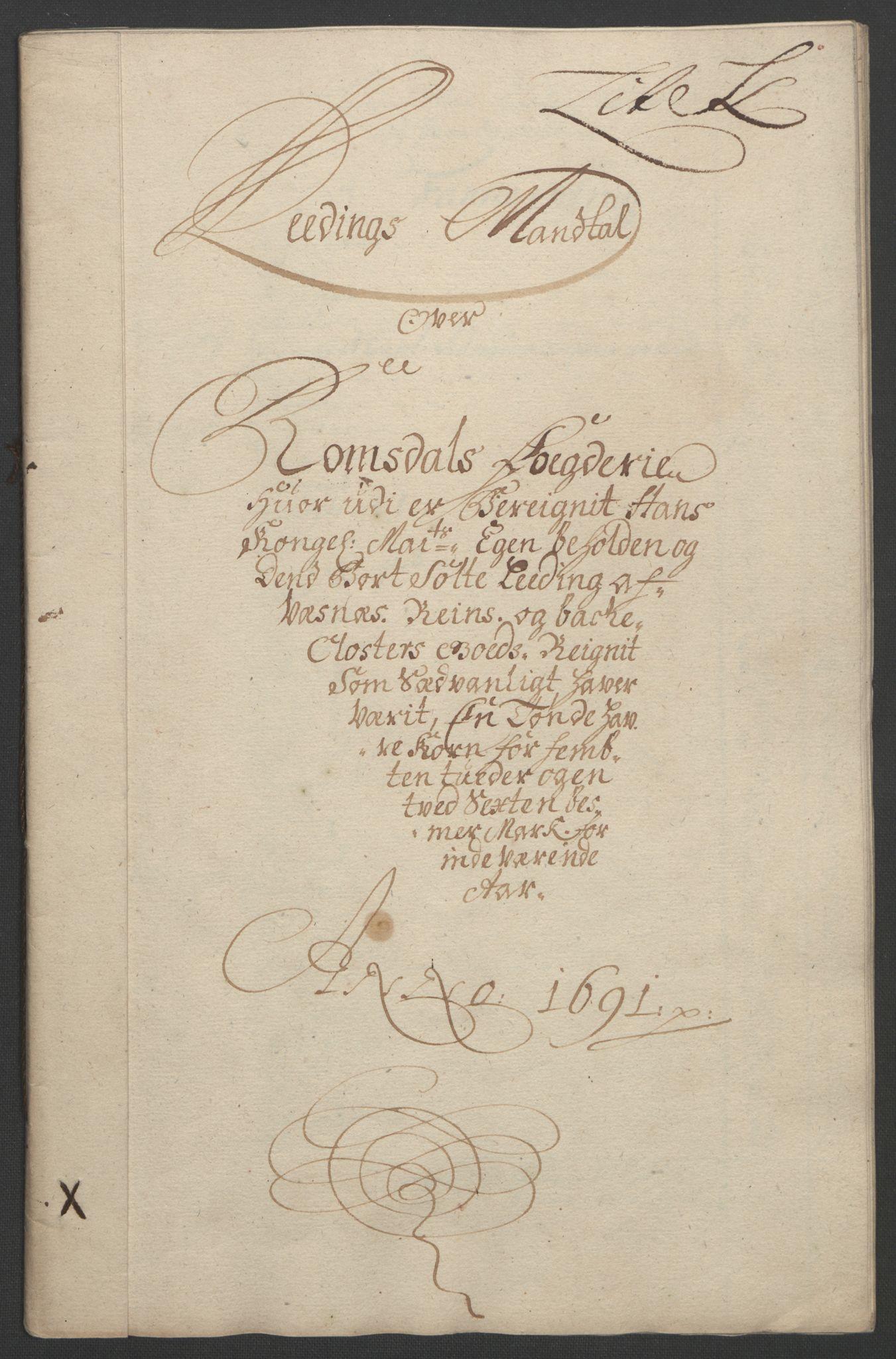 RA, Rentekammeret inntil 1814, Reviderte regnskaper, Fogderegnskap, R55/L3649: Fogderegnskap Romsdal, 1690-1691, s. 302