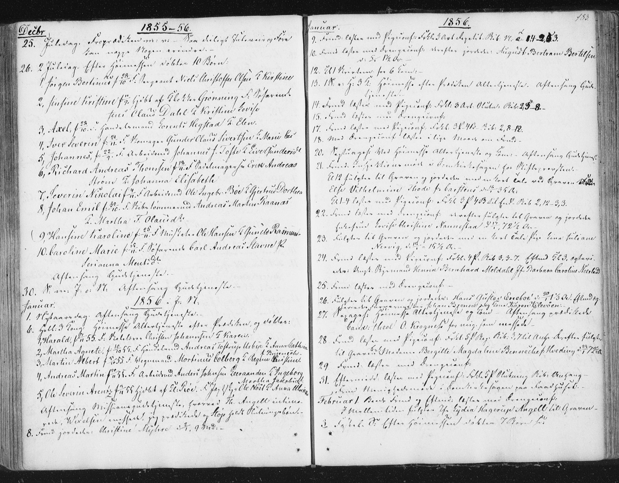 SAT, Ministerialprotokoller, klokkerbøker og fødselsregistre - Sør-Trøndelag, 602/L0127: Residerende kapellans bok nr. 602B01, 1821-1875, s. 183