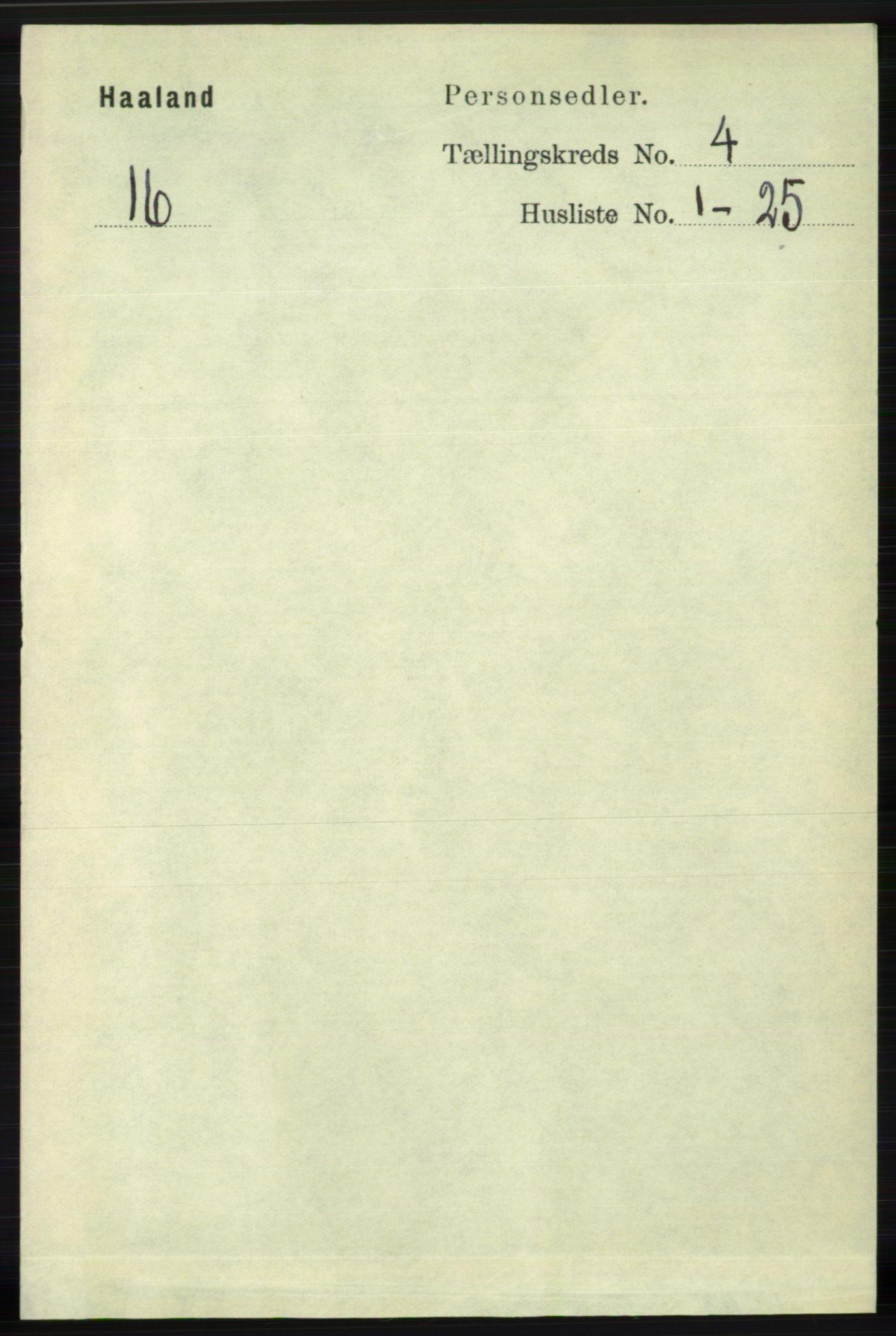 RA, Folketelling 1891 for 1124 Haaland herred, 1891, s. 2415