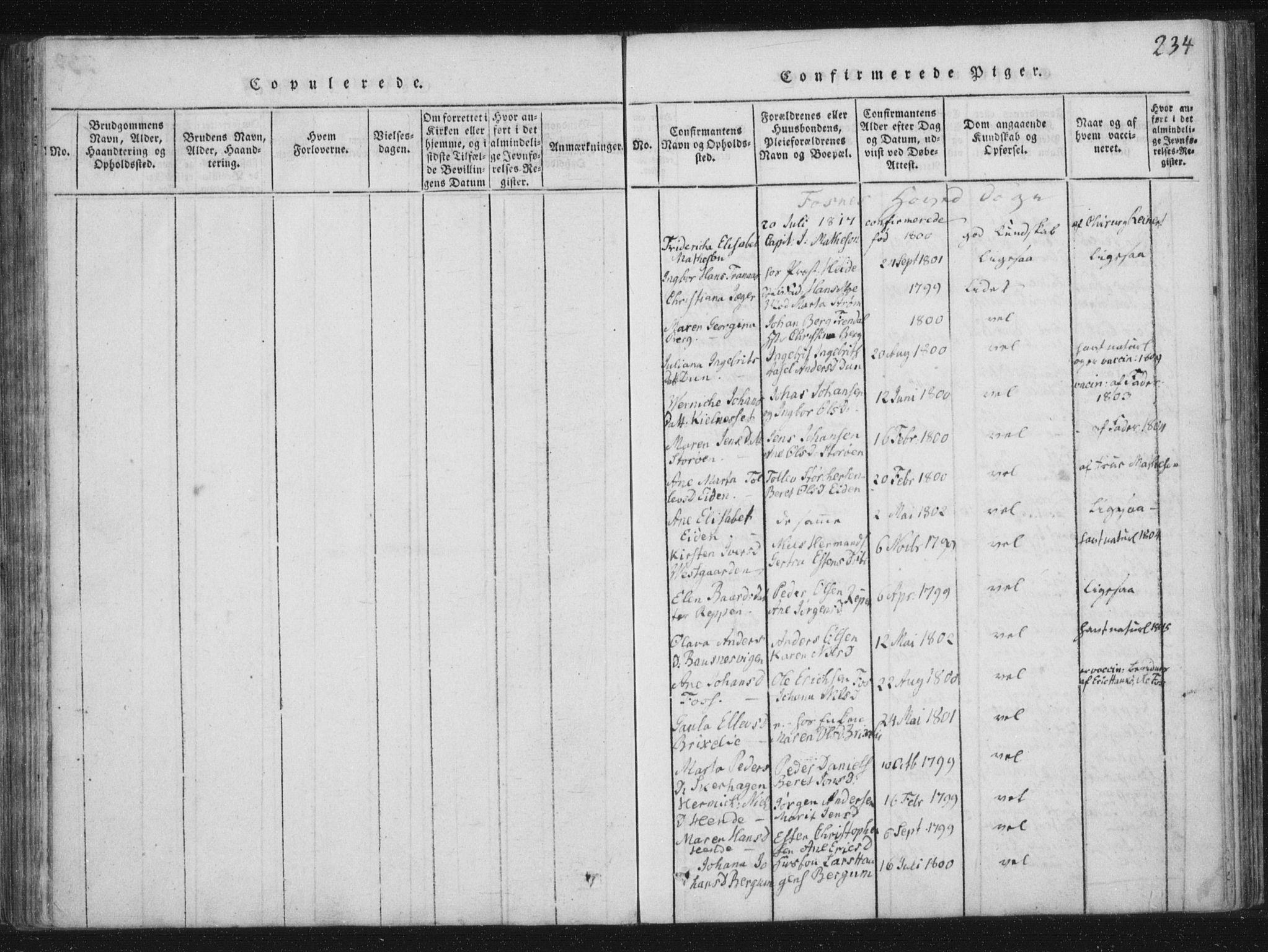 SAT, Ministerialprotokoller, klokkerbøker og fødselsregistre - Nord-Trøndelag, 773/L0609: Ministerialbok nr. 773A03 /1, 1815-1830, s. 234