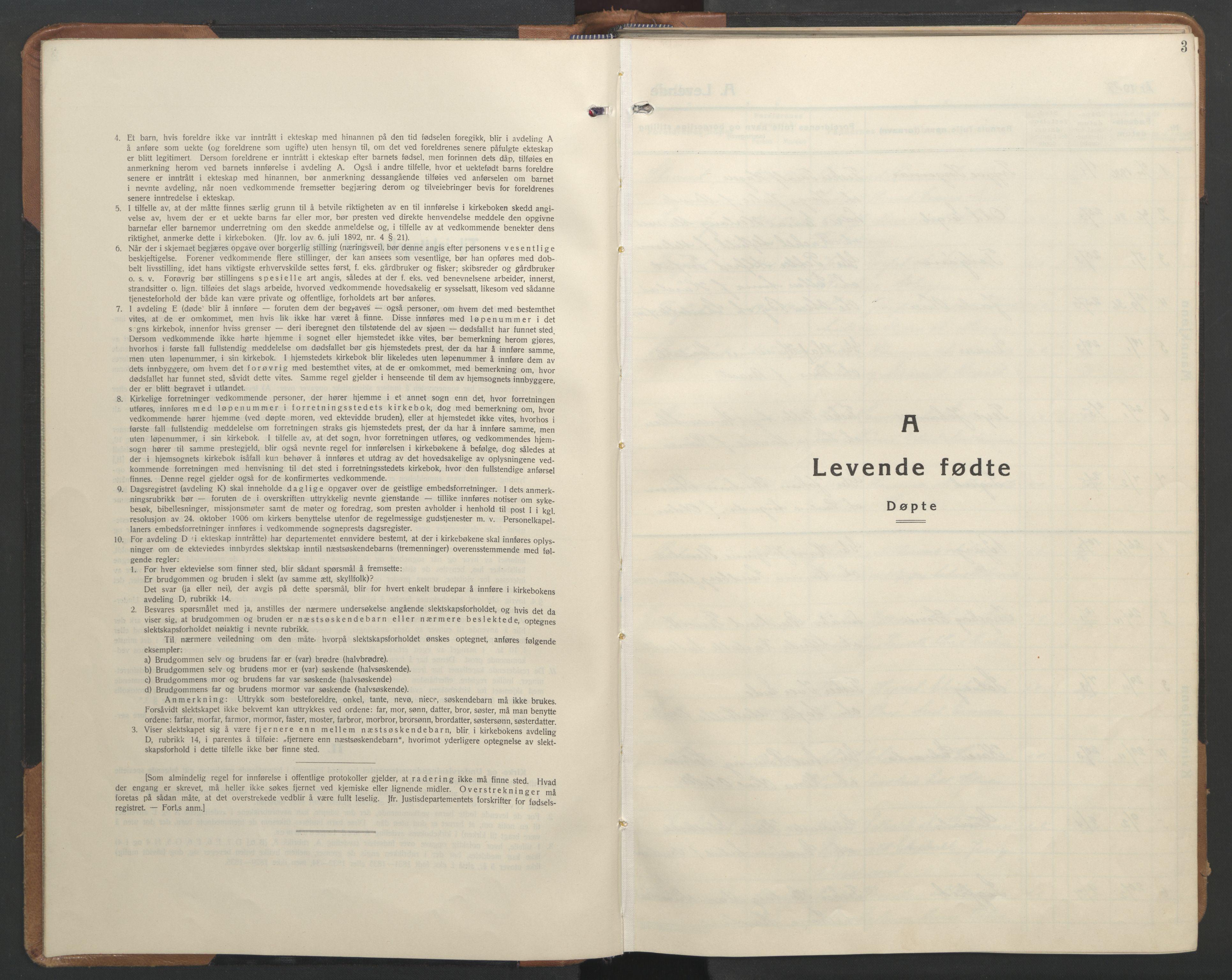 SAT, Ministerialprotokoller, klokkerbøker og fødselsregistre - Sør-Trøndelag, 655/L0690: Klokkerbok nr. 655C06, 1937-1950, s. 3
