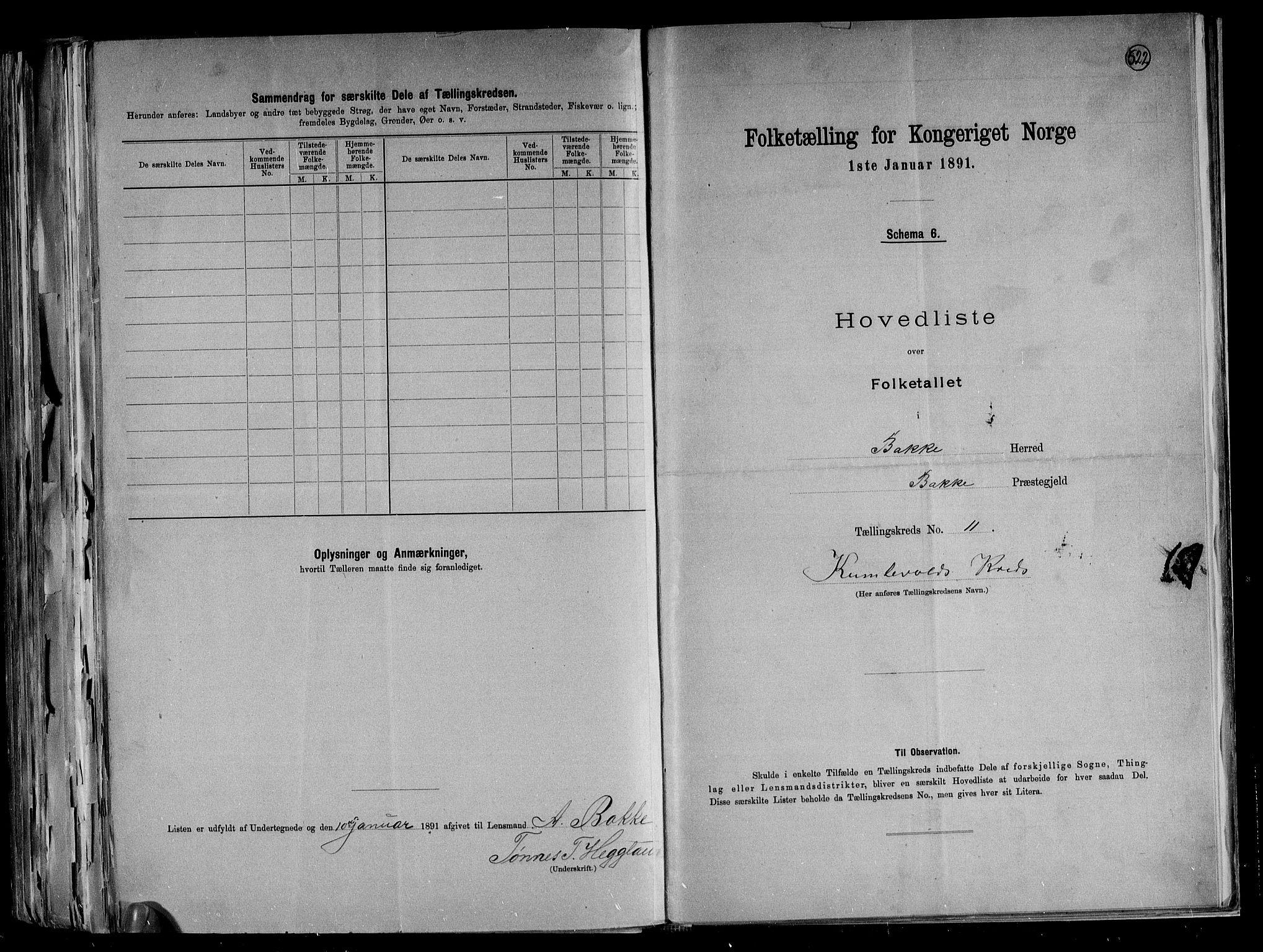 RA, Folketelling 1891 for 1045 Bakke herred, 1891, s. 25